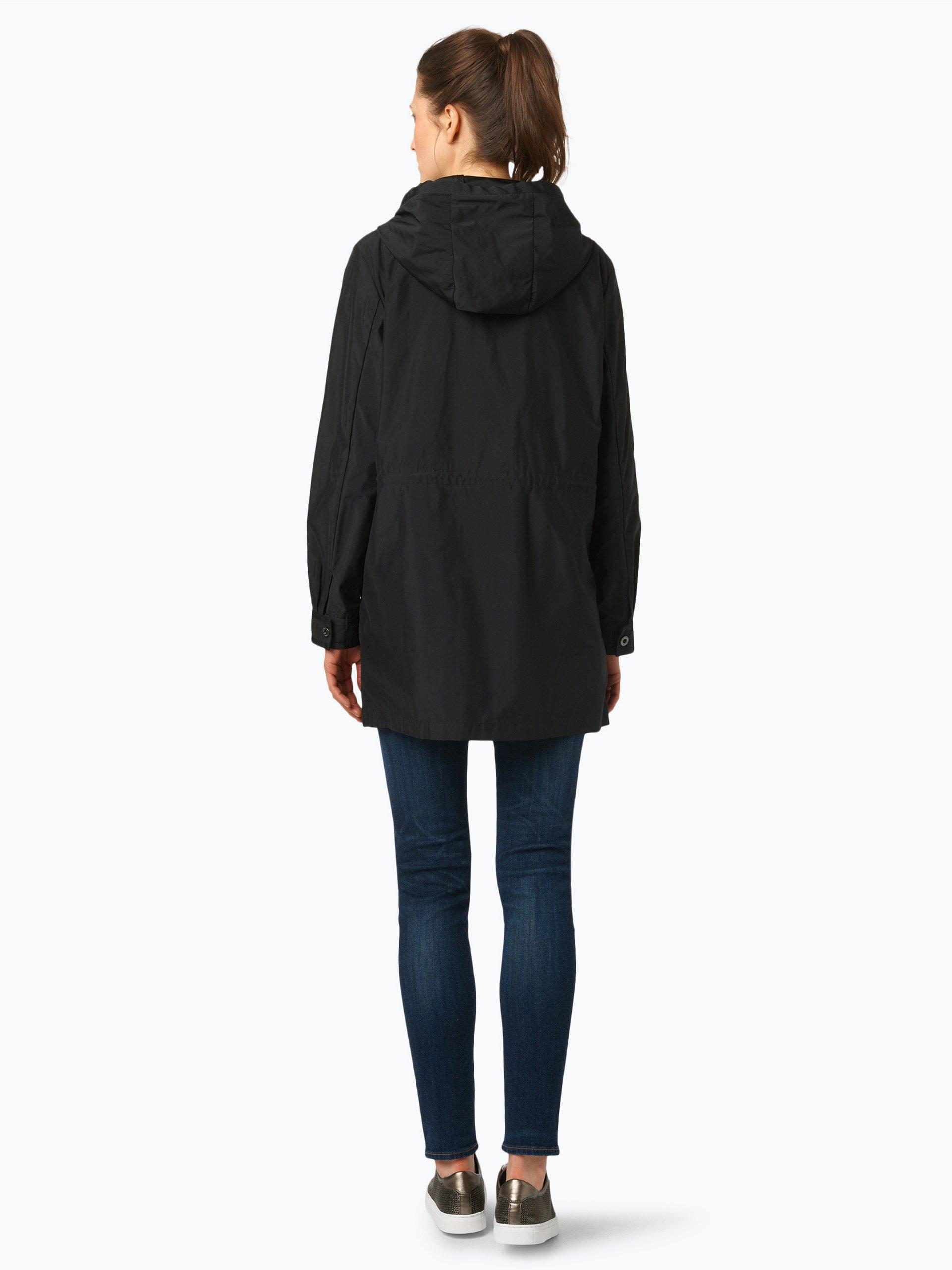 armani jeans damen mantel schwarz uni online kaufen peek. Black Bedroom Furniture Sets. Home Design Ideas