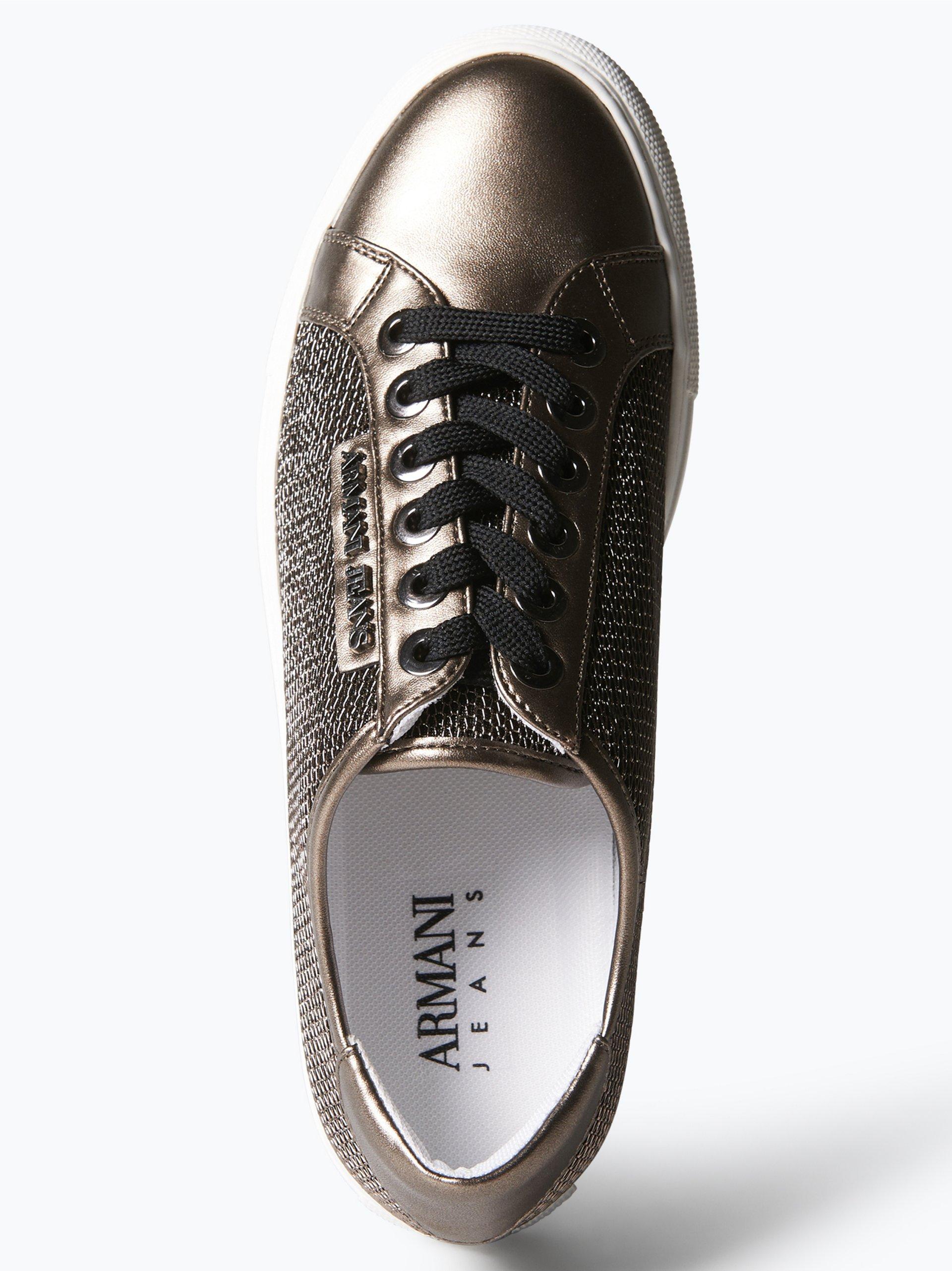 armani jeans damen sneaker gold uni online kaufen. Black Bedroom Furniture Sets. Home Design Ideas