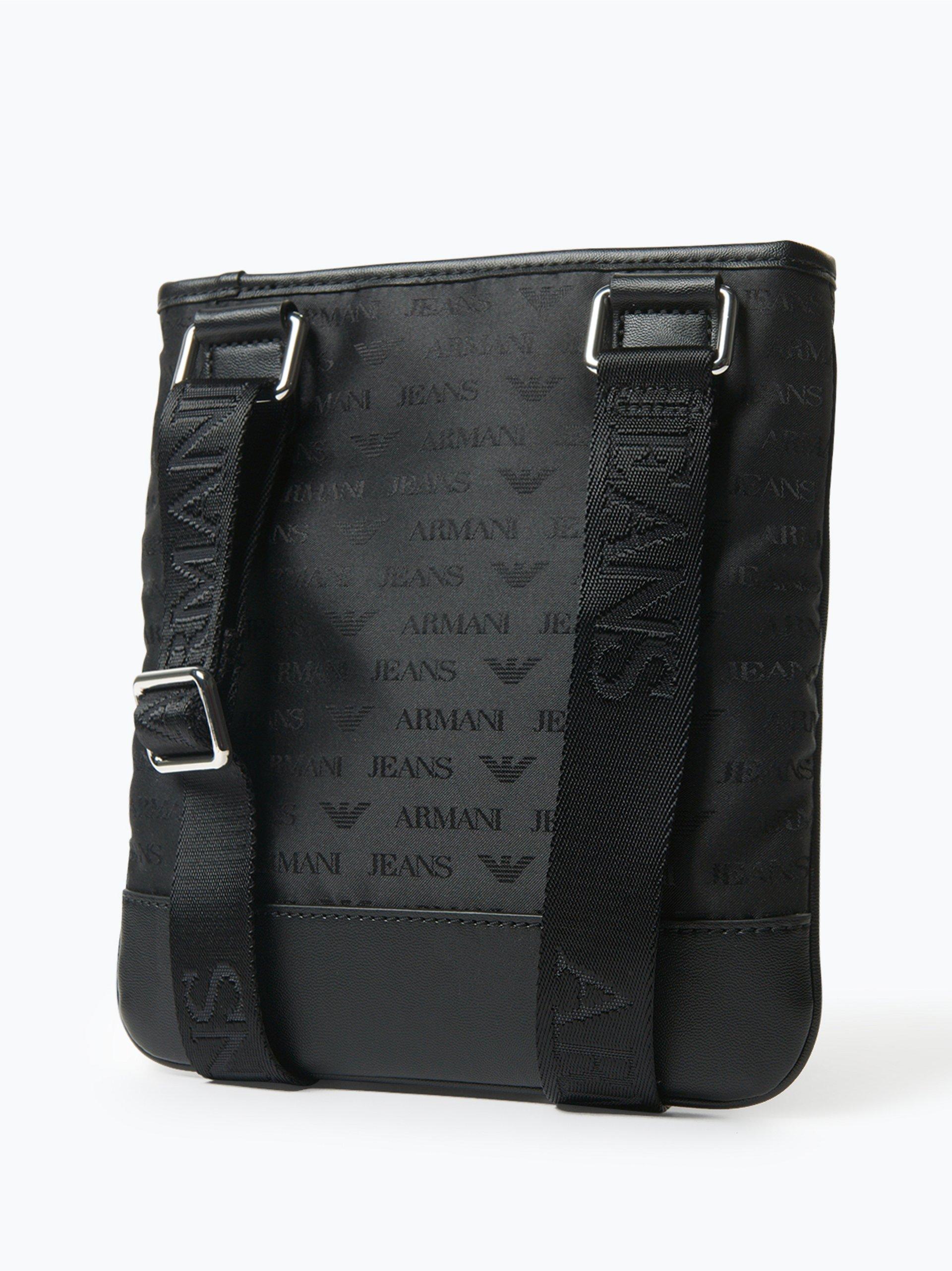 armani jeans herren tasche schwarz gemustert online kaufen. Black Bedroom Furniture Sets. Home Design Ideas