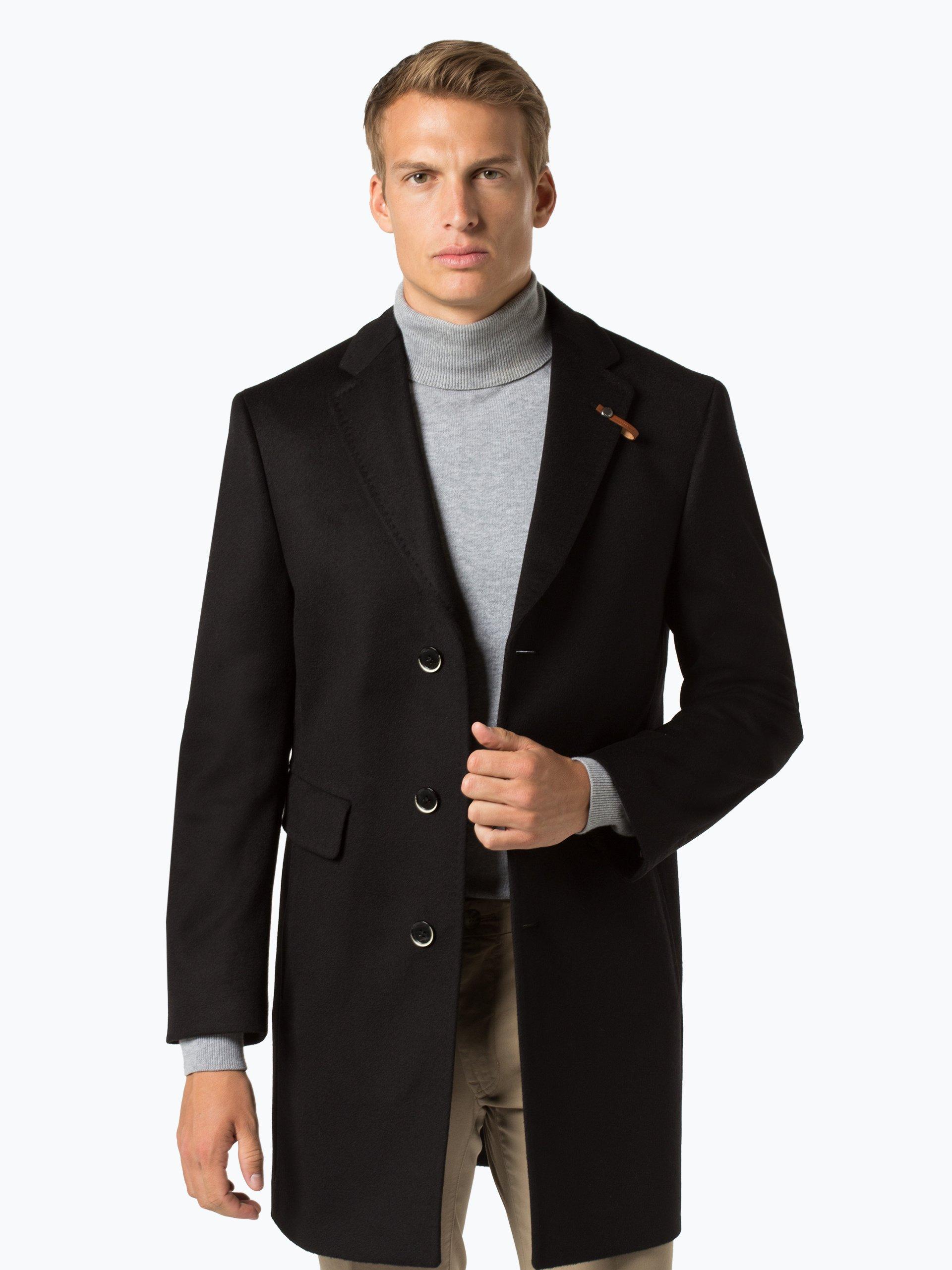 baldessarini herren mantel mit cashmere anteil cedric schwarz uni online kaufen peek und