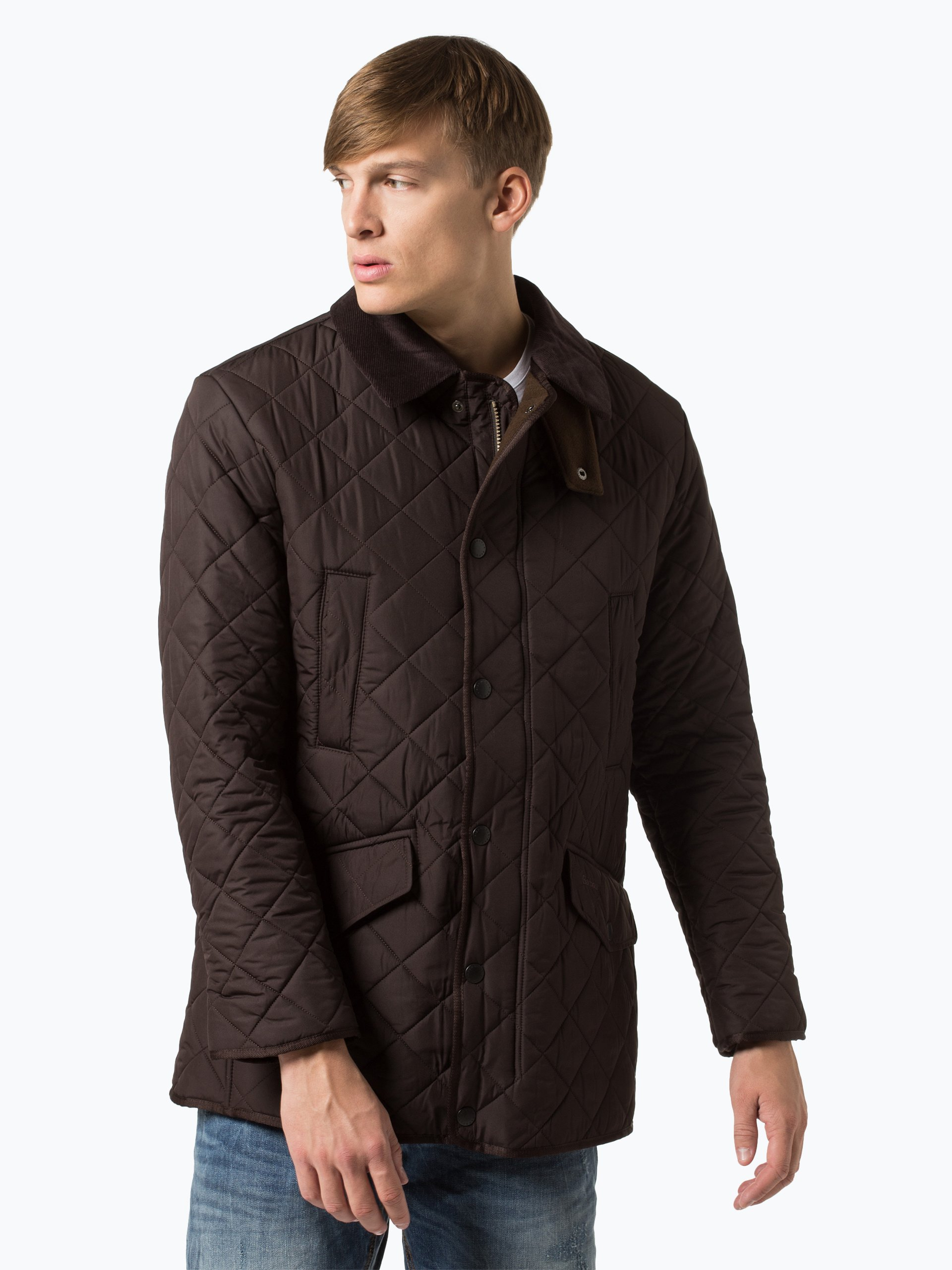 barbour herren jacke bardon quilt schoko uni online. Black Bedroom Furniture Sets. Home Design Ideas