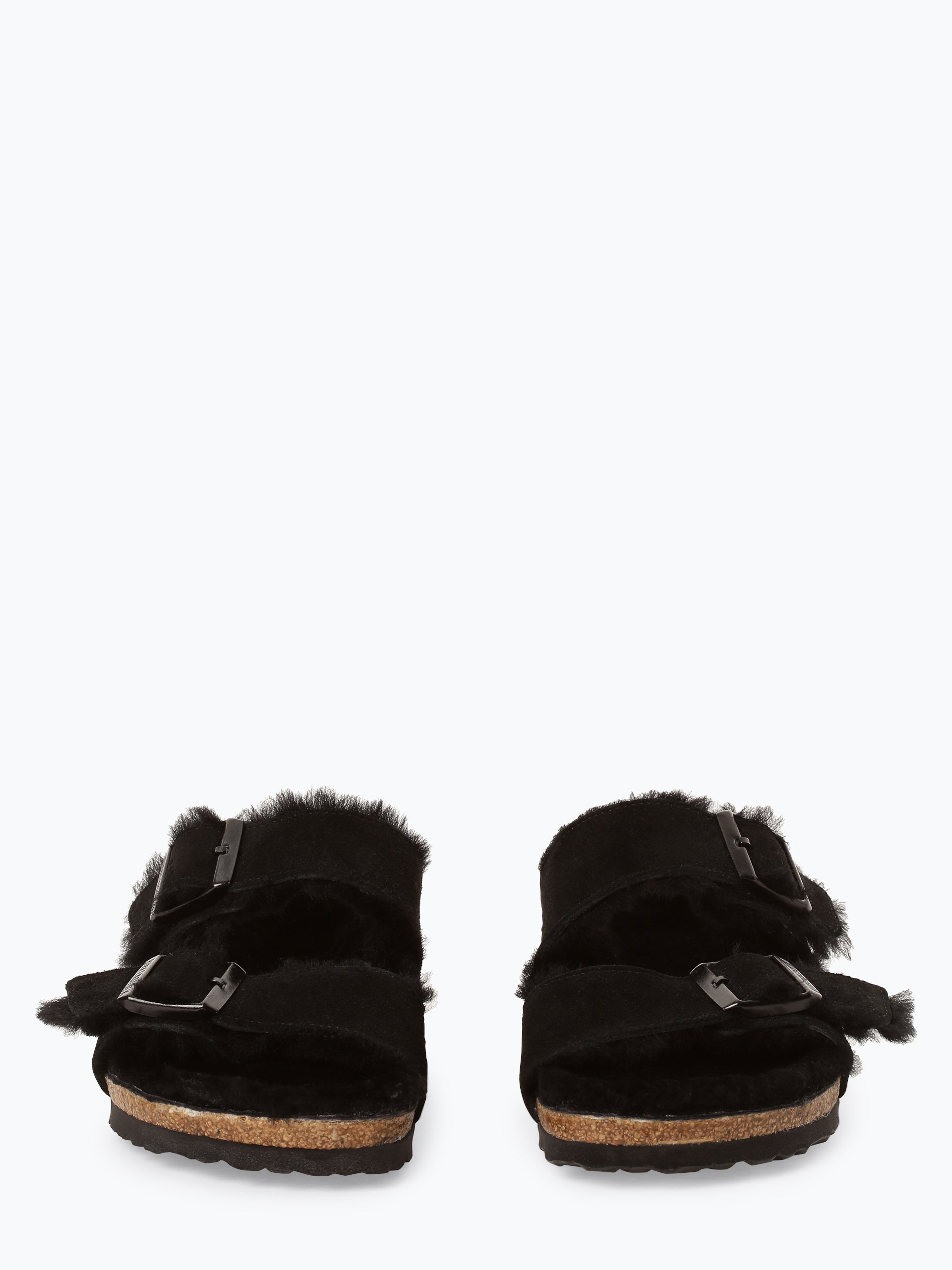 birkenstock damen sandalen aus leder arizona fur schwarz uni online kaufen vangraaf com. Black Bedroom Furniture Sets. Home Design Ideas