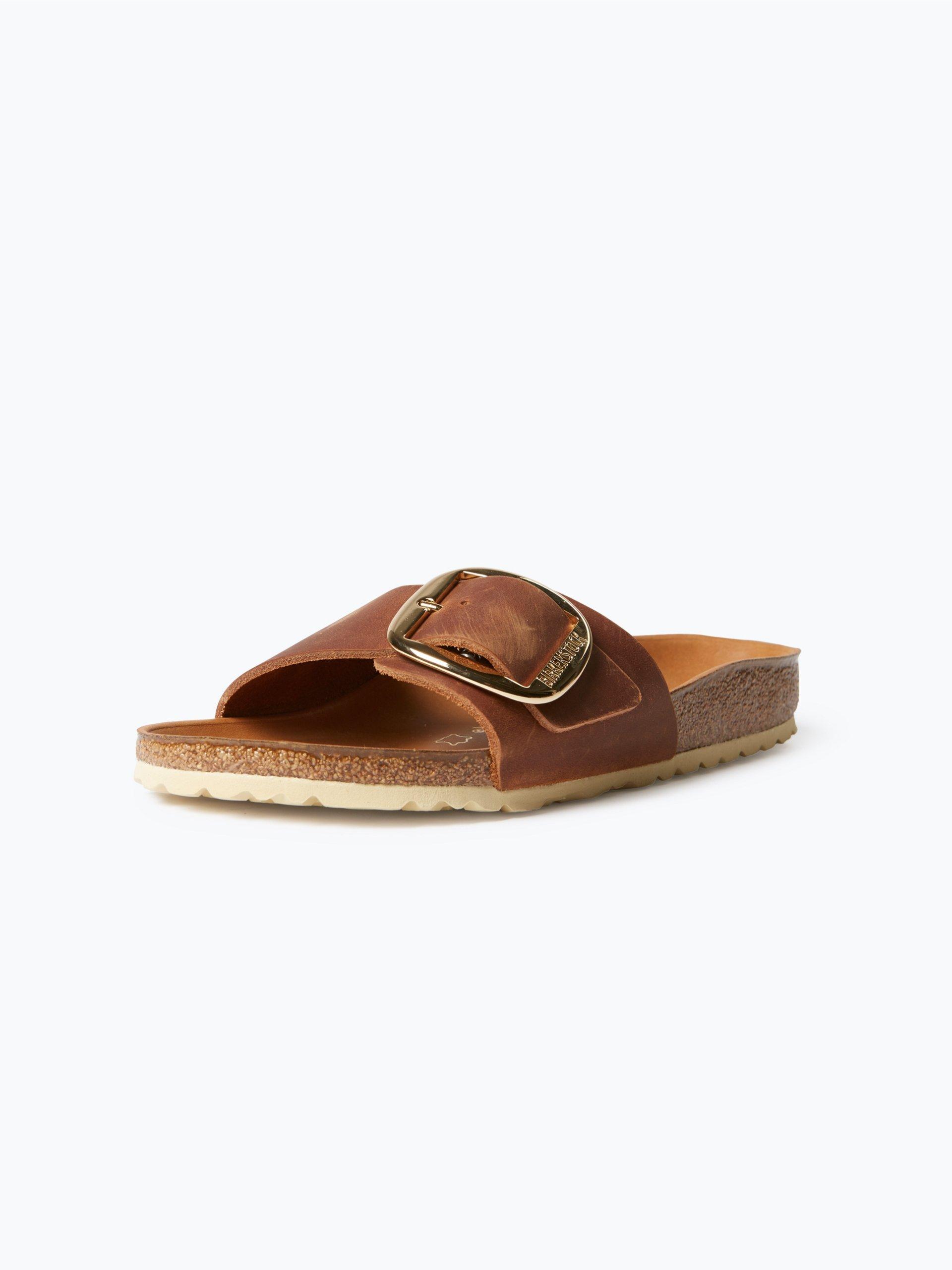 birkenstock damen sandalen aus leder cognac uni online. Black Bedroom Furniture Sets. Home Design Ideas