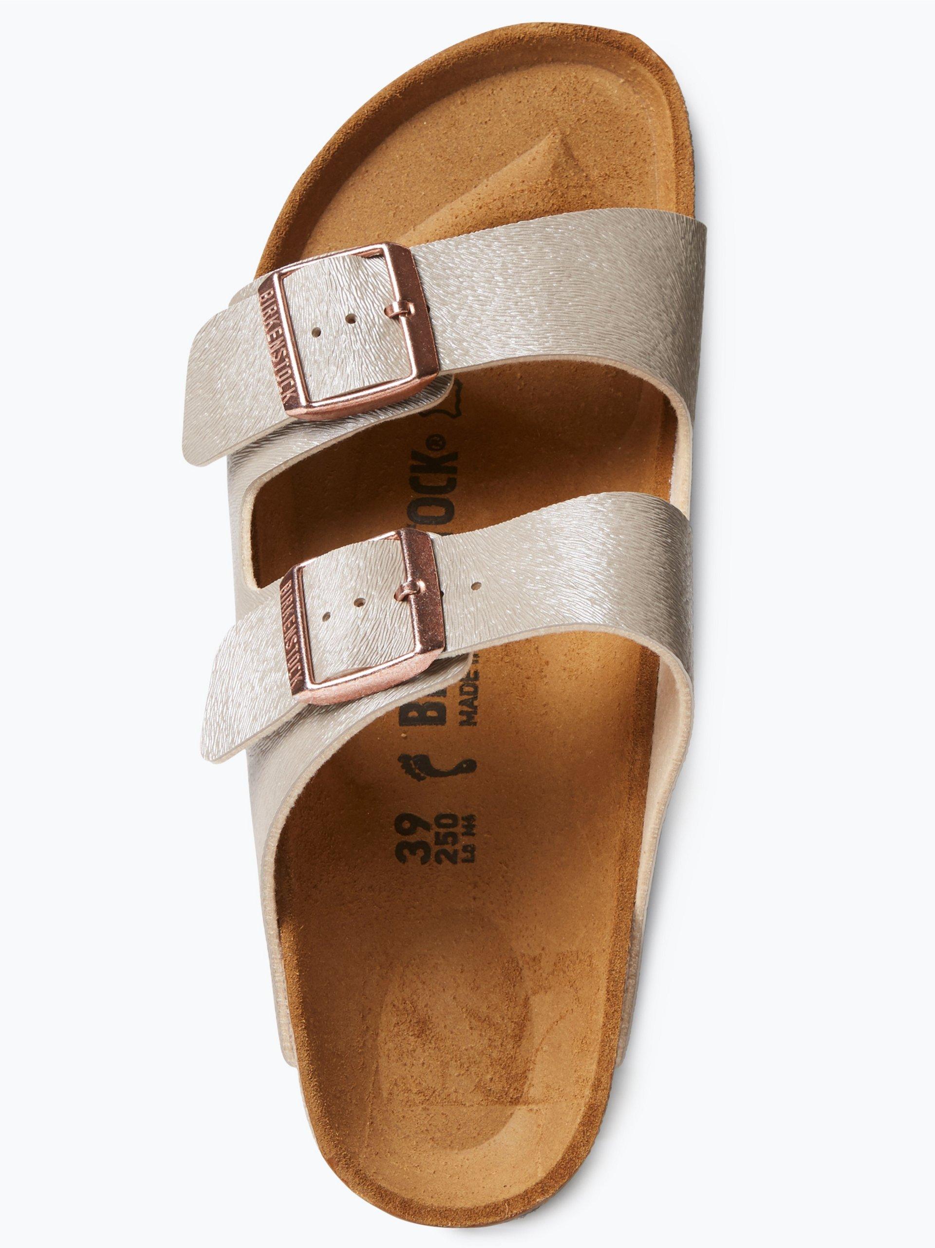 birkenstock damen sandalen in leder optik schlamm uni. Black Bedroom Furniture Sets. Home Design Ideas