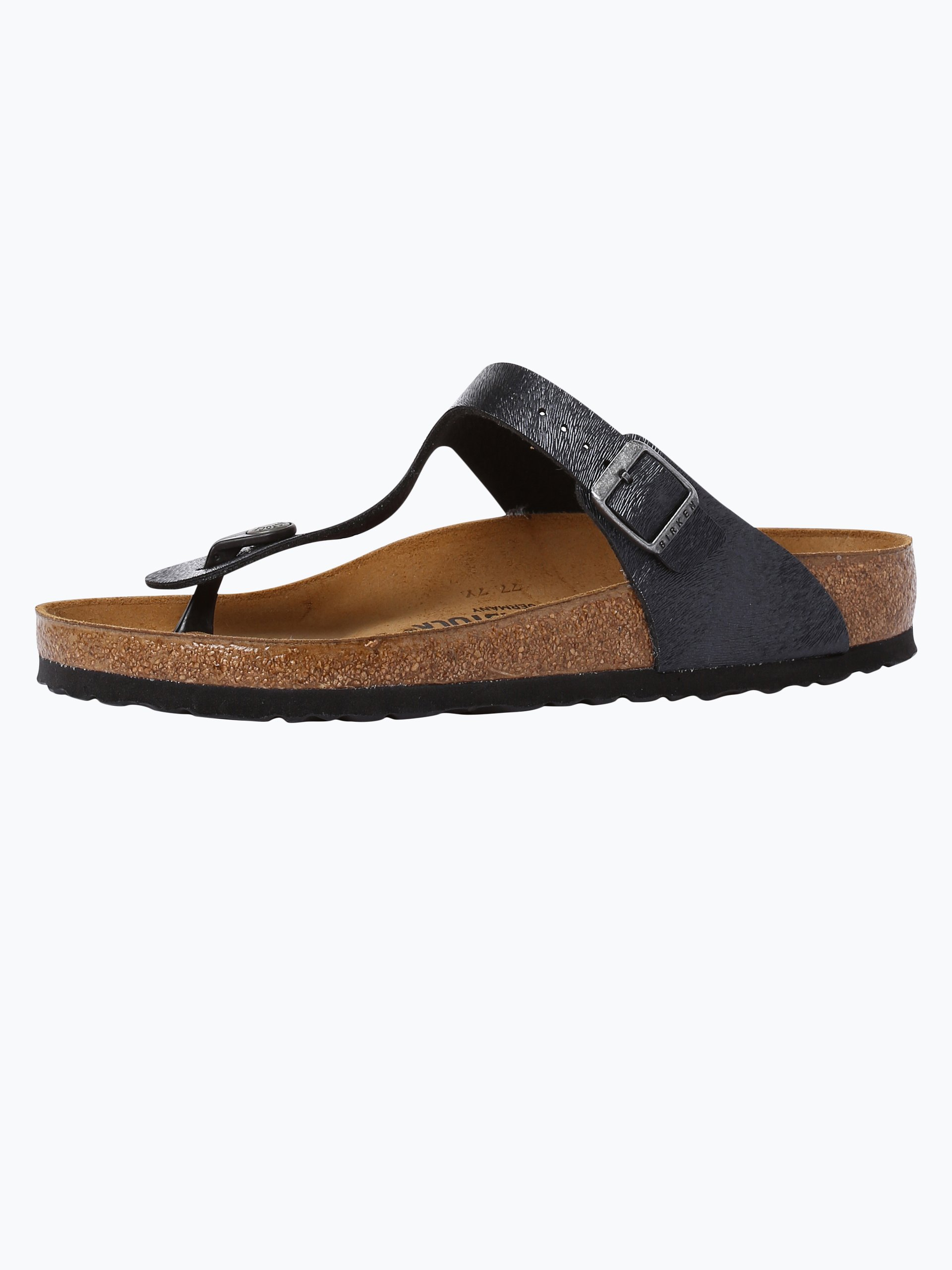 birkenstock damen sandalen mit leder anteil gizeh bs schwarz uni online kaufen vangraaf com. Black Bedroom Furniture Sets. Home Design Ideas
