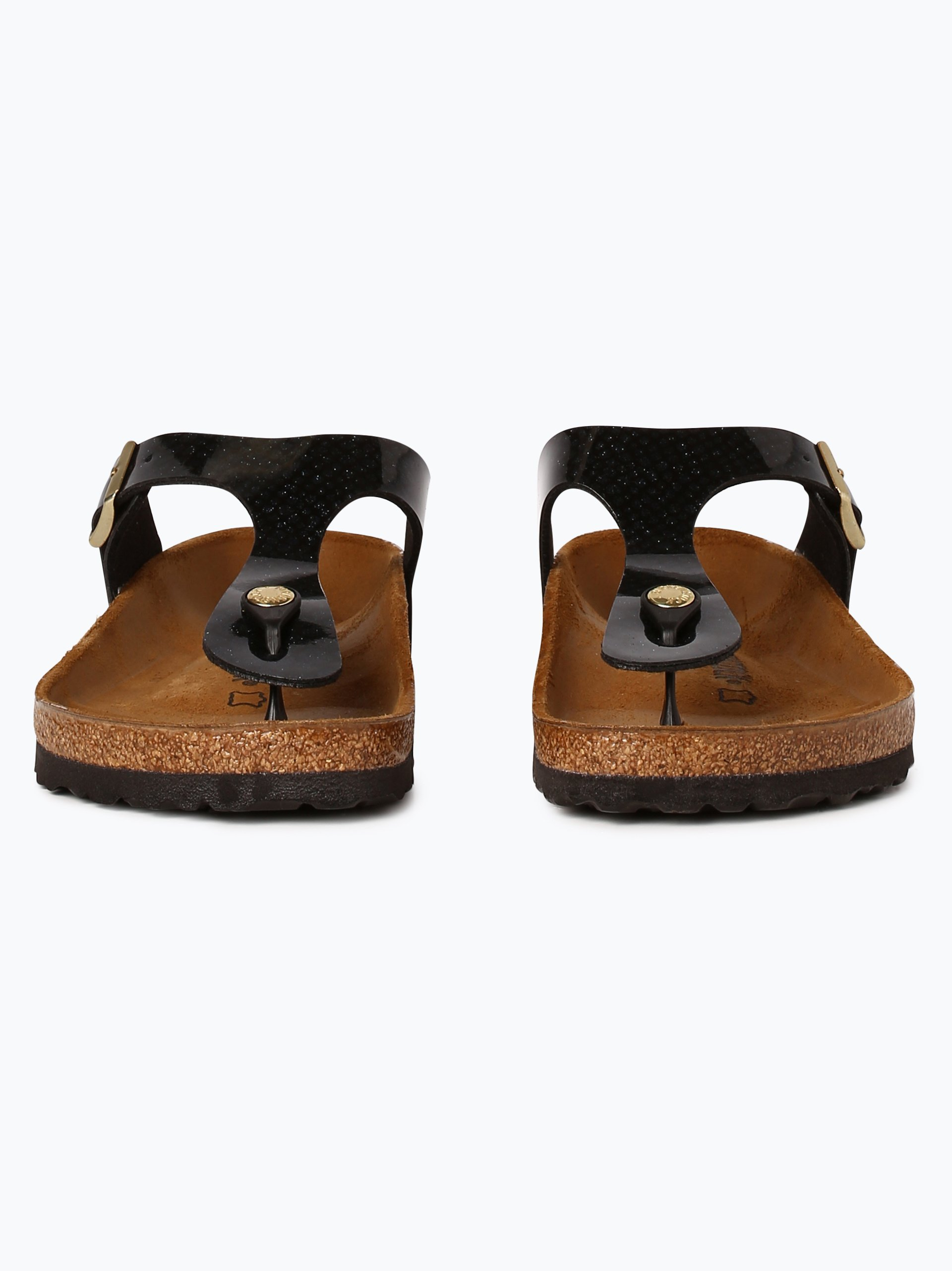 birkenstock damen sandalen mit leder anteil gizeh bs schwarz gemustert online kaufen peek. Black Bedroom Furniture Sets. Home Design Ideas