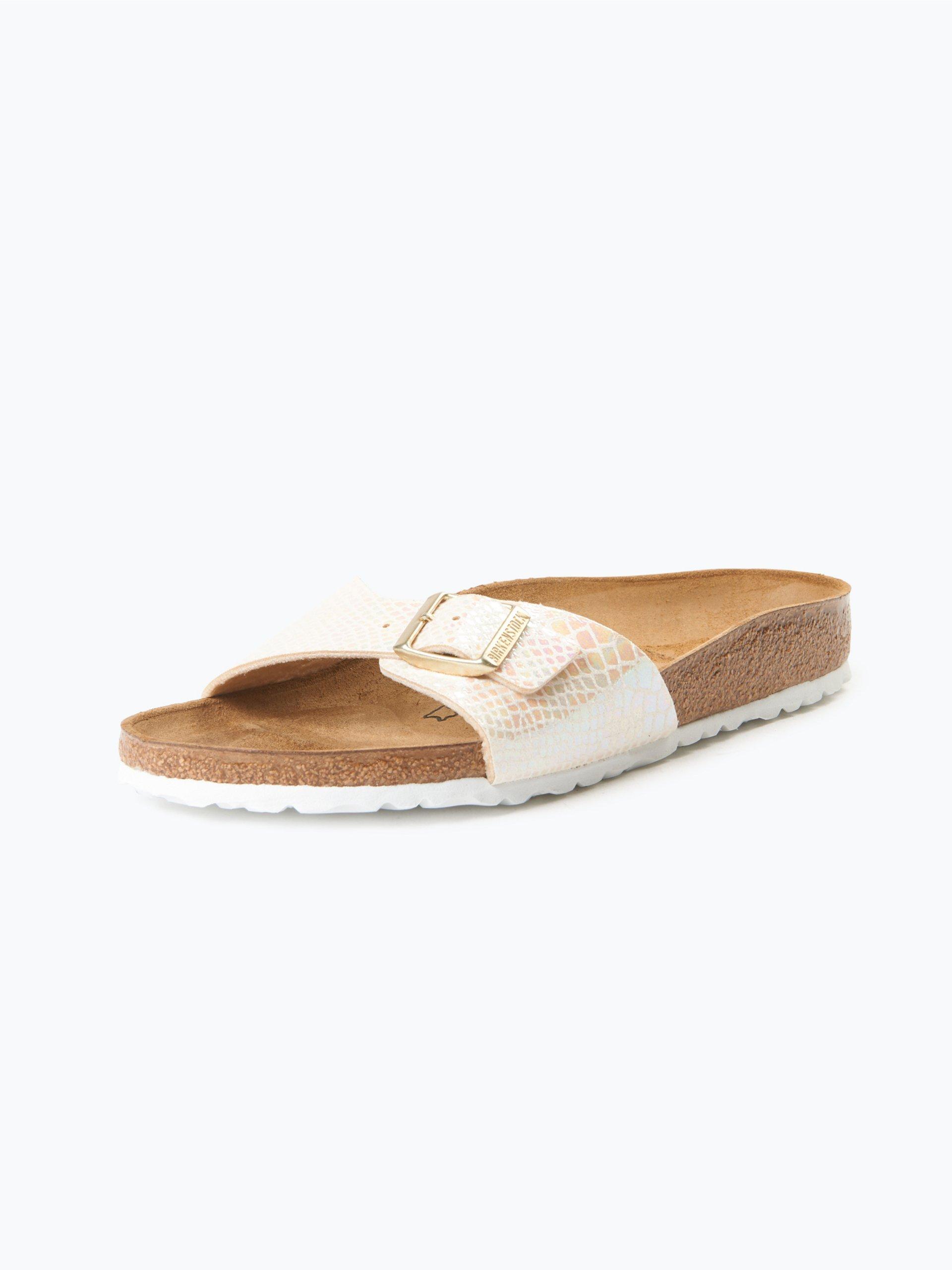 birkenstock damen sandalen mit leder anteil ecru gemustert. Black Bedroom Furniture Sets. Home Design Ideas