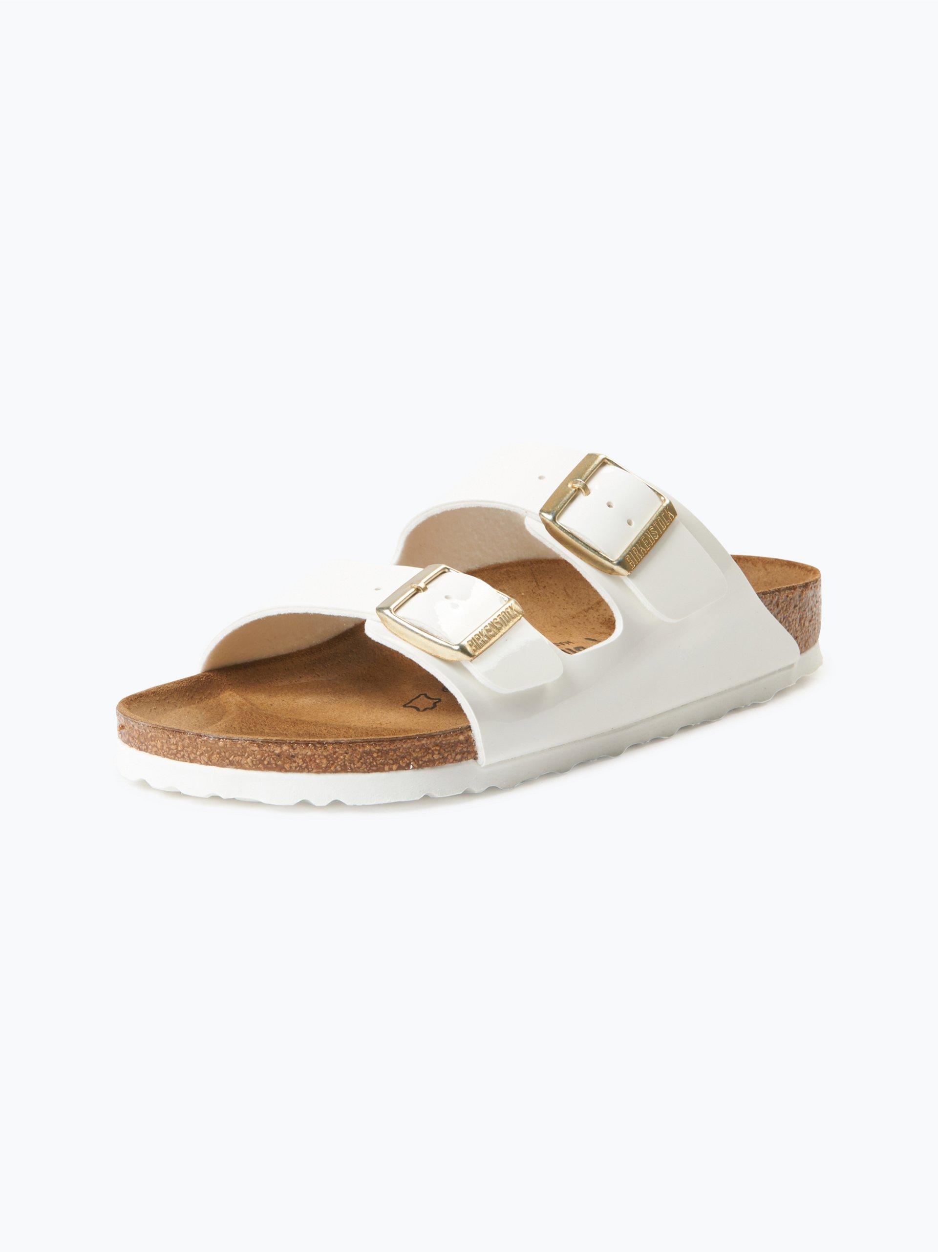 birkenstock damen sandalen mit leder anteil wei uni. Black Bedroom Furniture Sets. Home Design Ideas