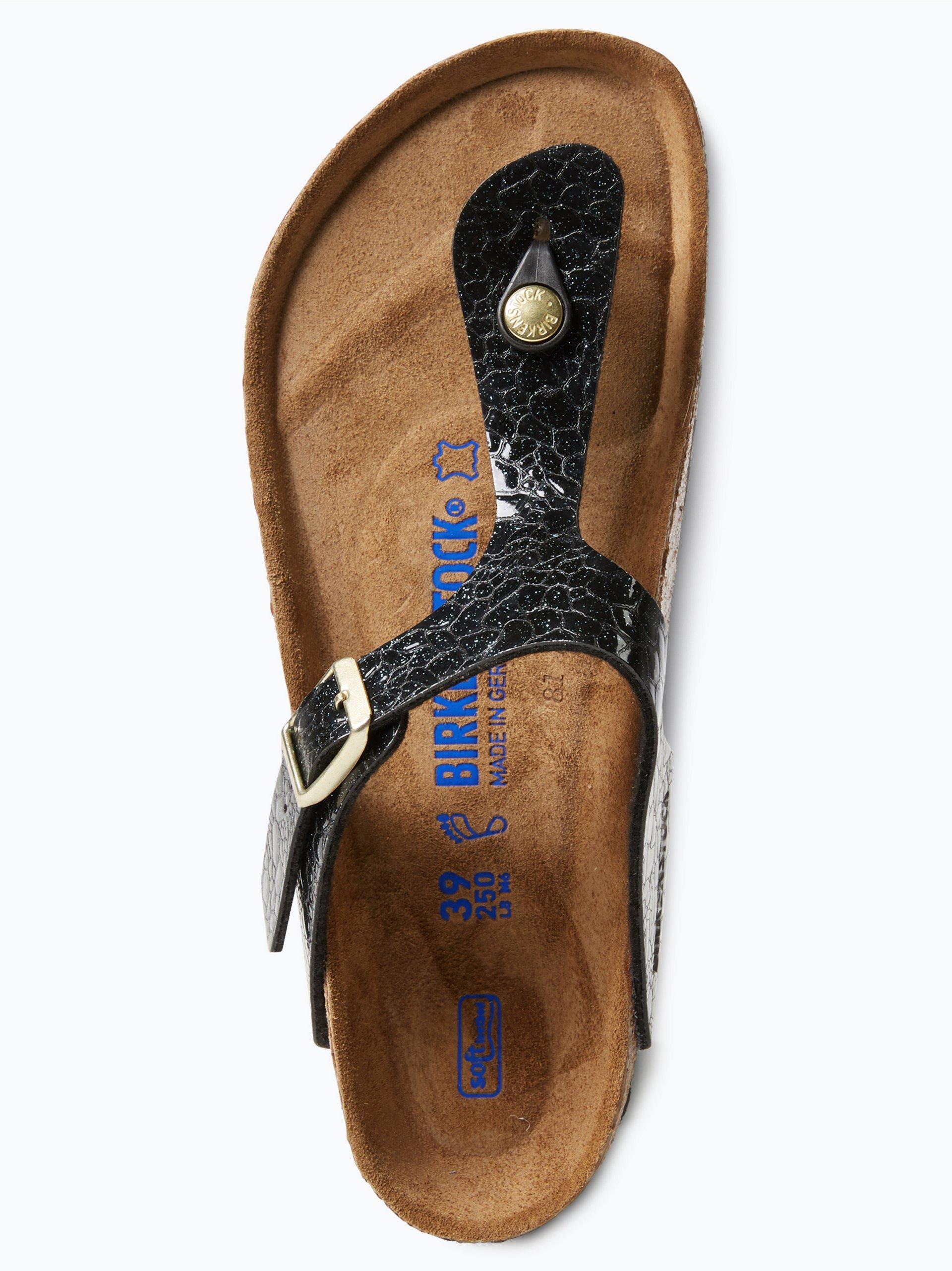 birkenstock damen sandalen mit leder anteil schwarz. Black Bedroom Furniture Sets. Home Design Ideas