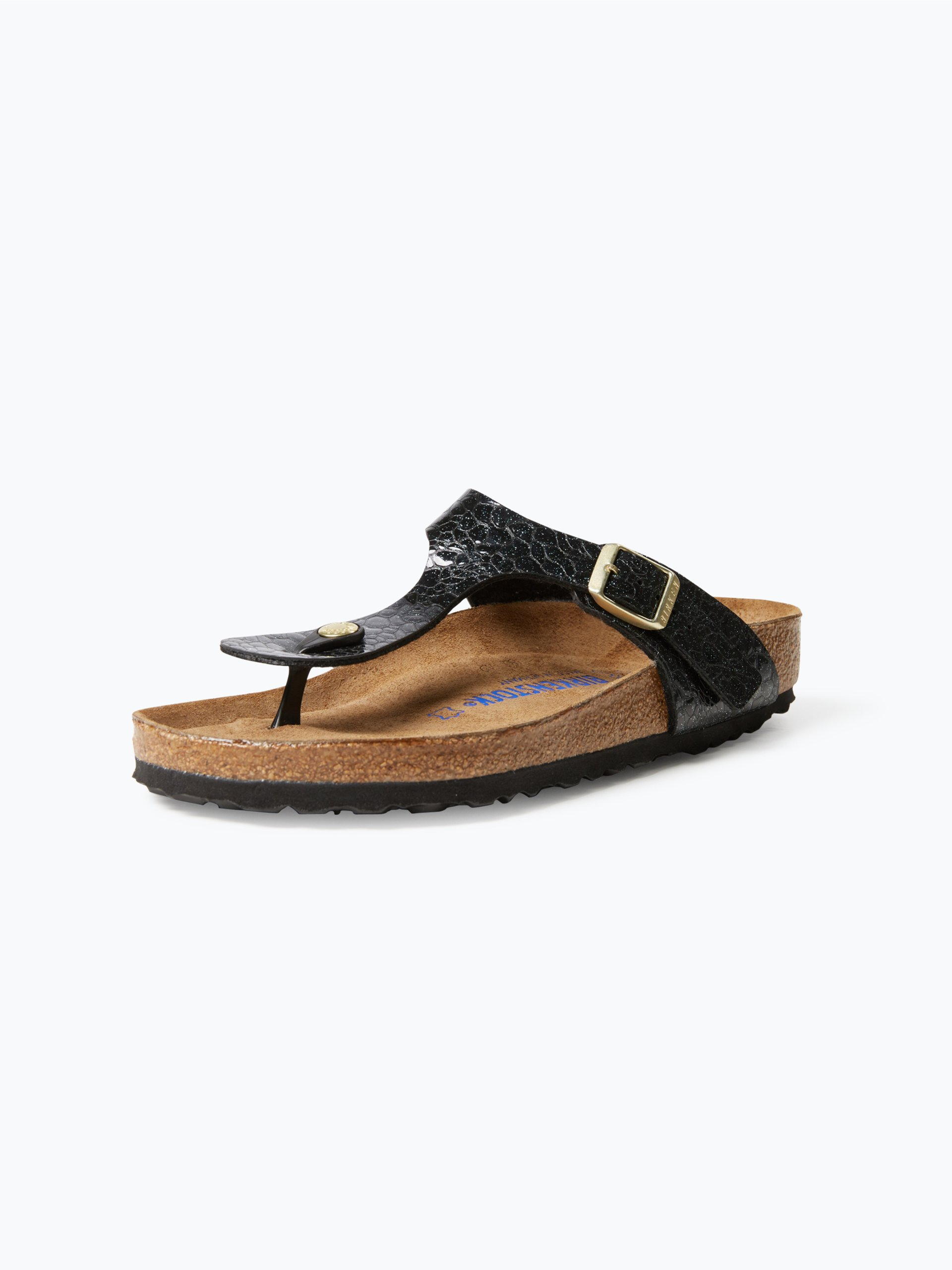 birkenstock damen sandalen mit leder anteil schwarz gemustert online kaufen vangraaf com. Black Bedroom Furniture Sets. Home Design Ideas