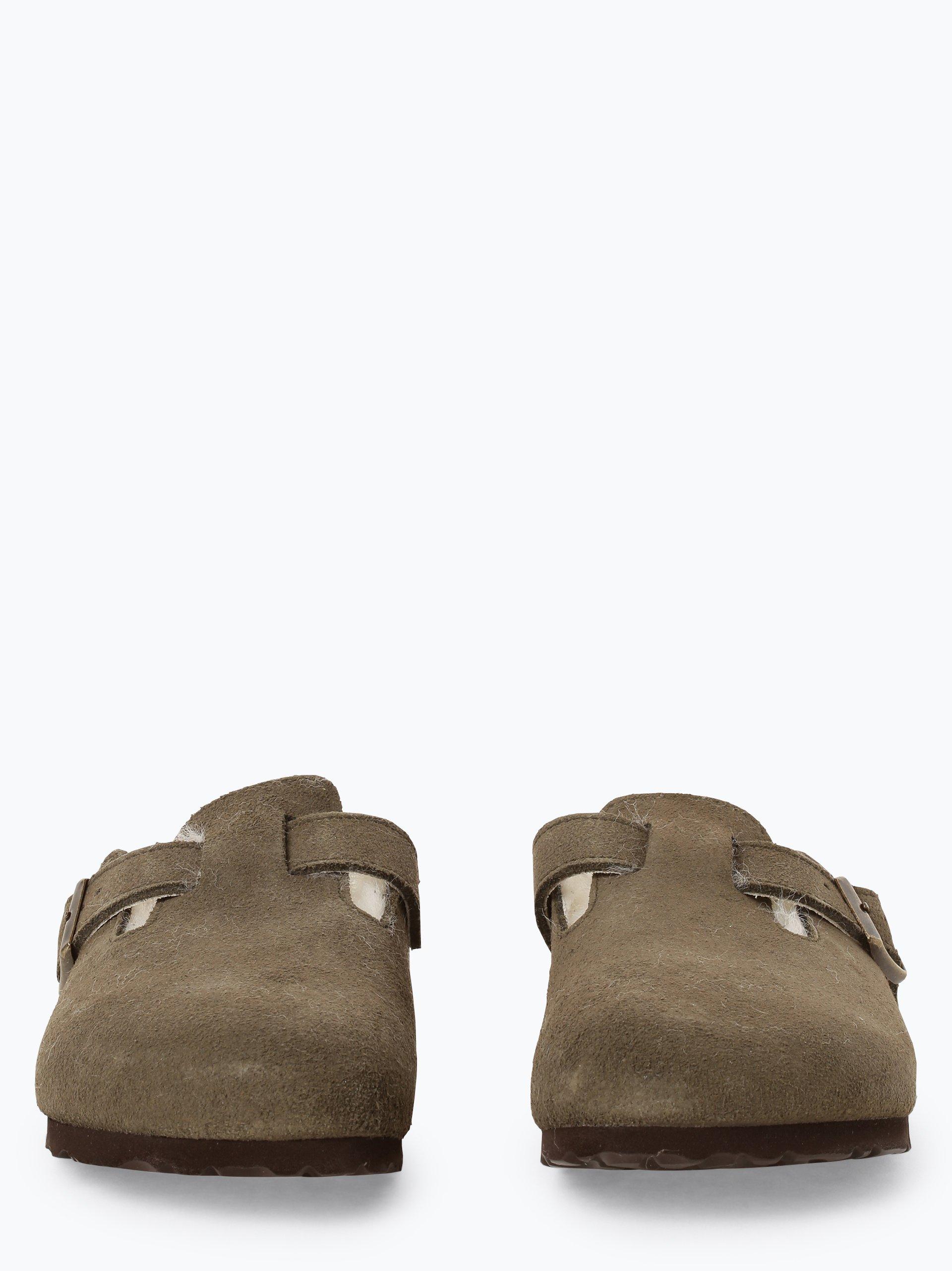 Birkenstock Sandały damskie ze skóry – Boston Fur