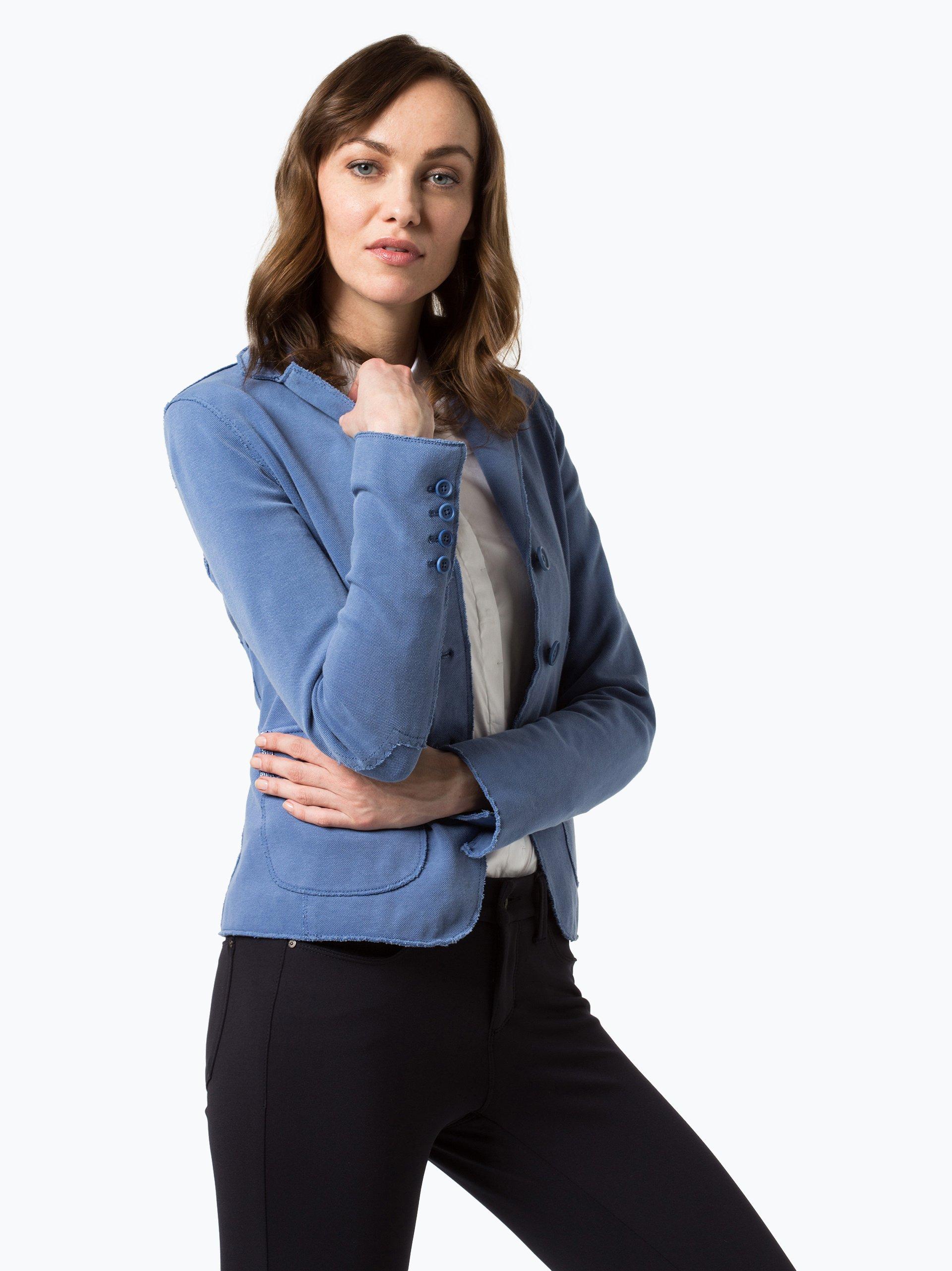 blonde no 8 damen blazer cannes blau gemustert online kaufen vangraaf com. Black Bedroom Furniture Sets. Home Design Ideas
