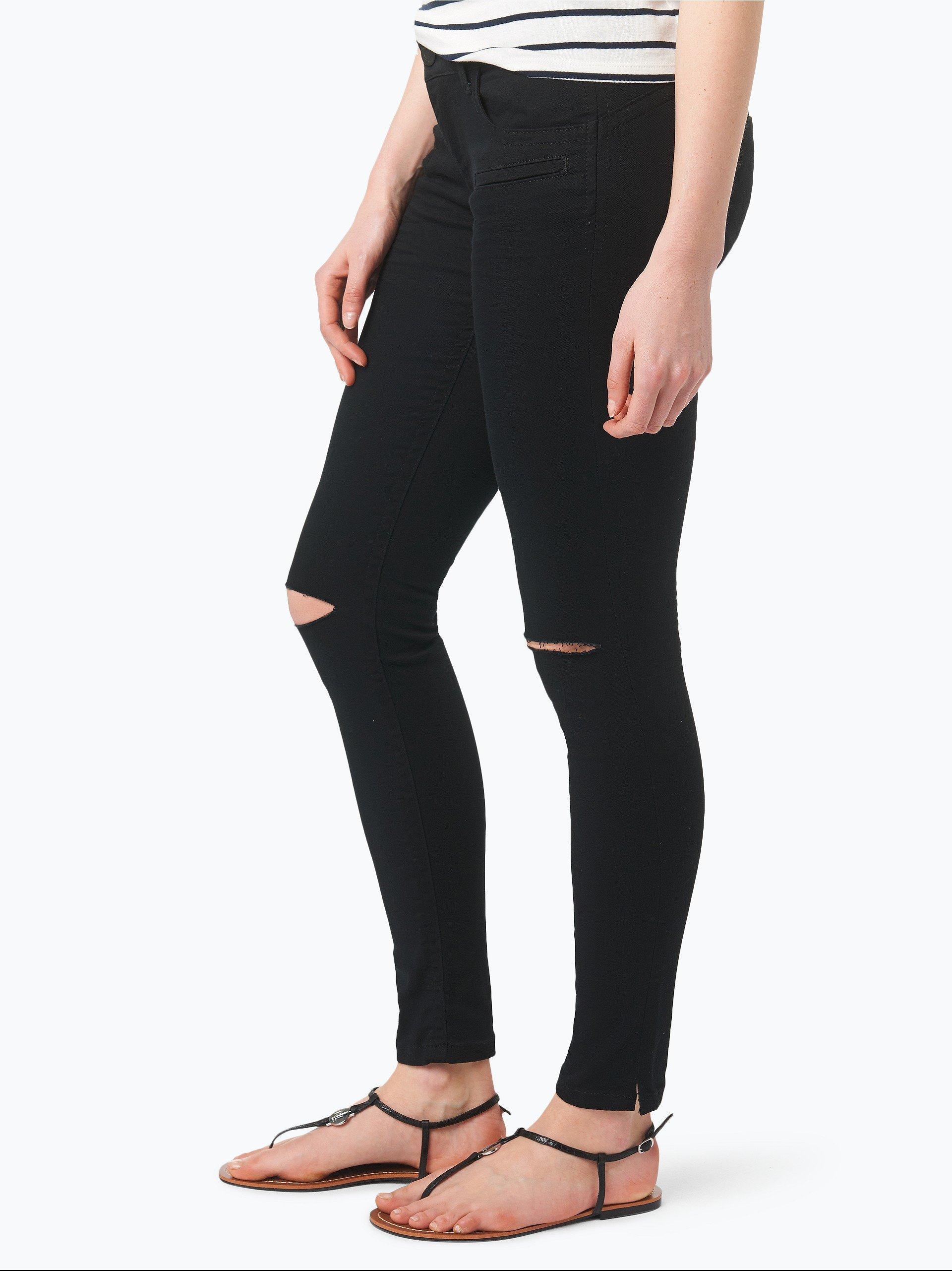 blue fire damen jeans alicia schwarz uni online kaufen. Black Bedroom Furniture Sets. Home Design Ideas