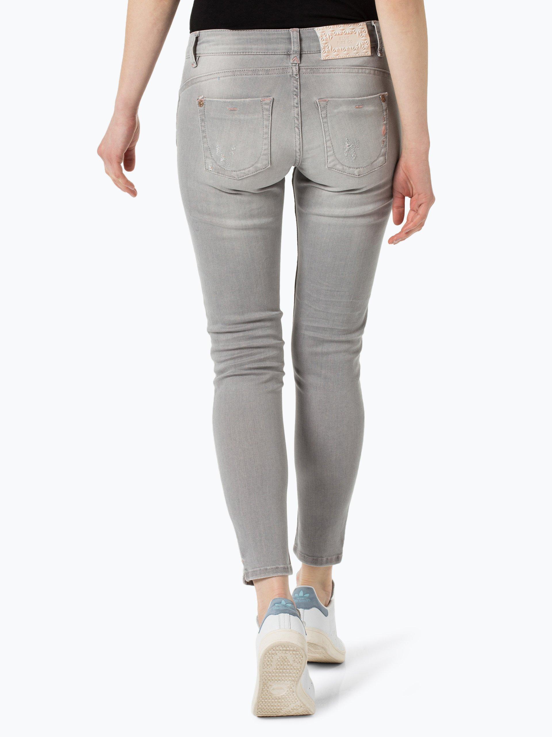 blue fire damen jeans alicia silber grau uni online. Black Bedroom Furniture Sets. Home Design Ideas