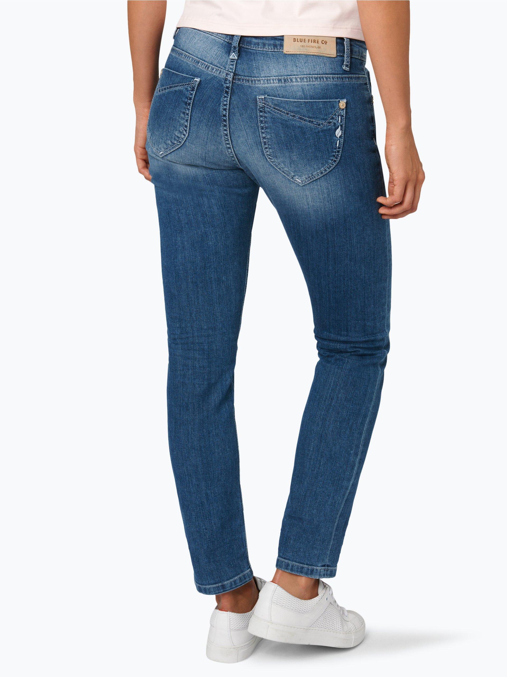 blue fire damen jeans nancy medium stone gemustert. Black Bedroom Furniture Sets. Home Design Ideas