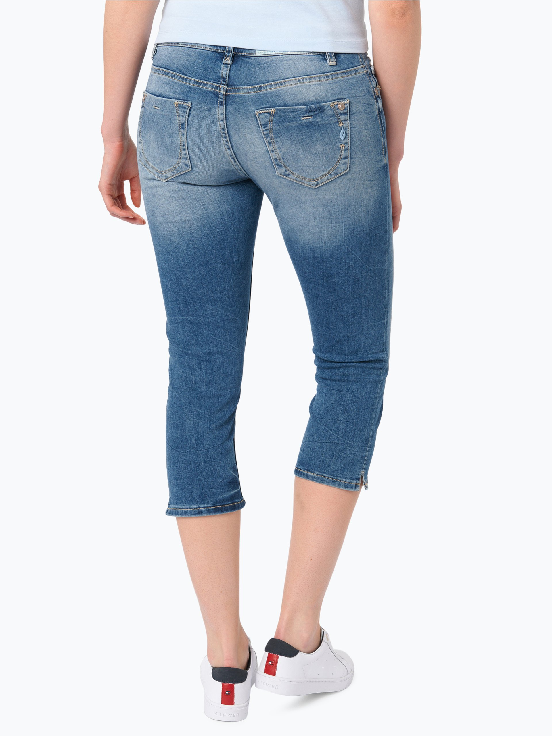 blue fire damen jeans tyra capri light stone gemustert. Black Bedroom Furniture Sets. Home Design Ideas