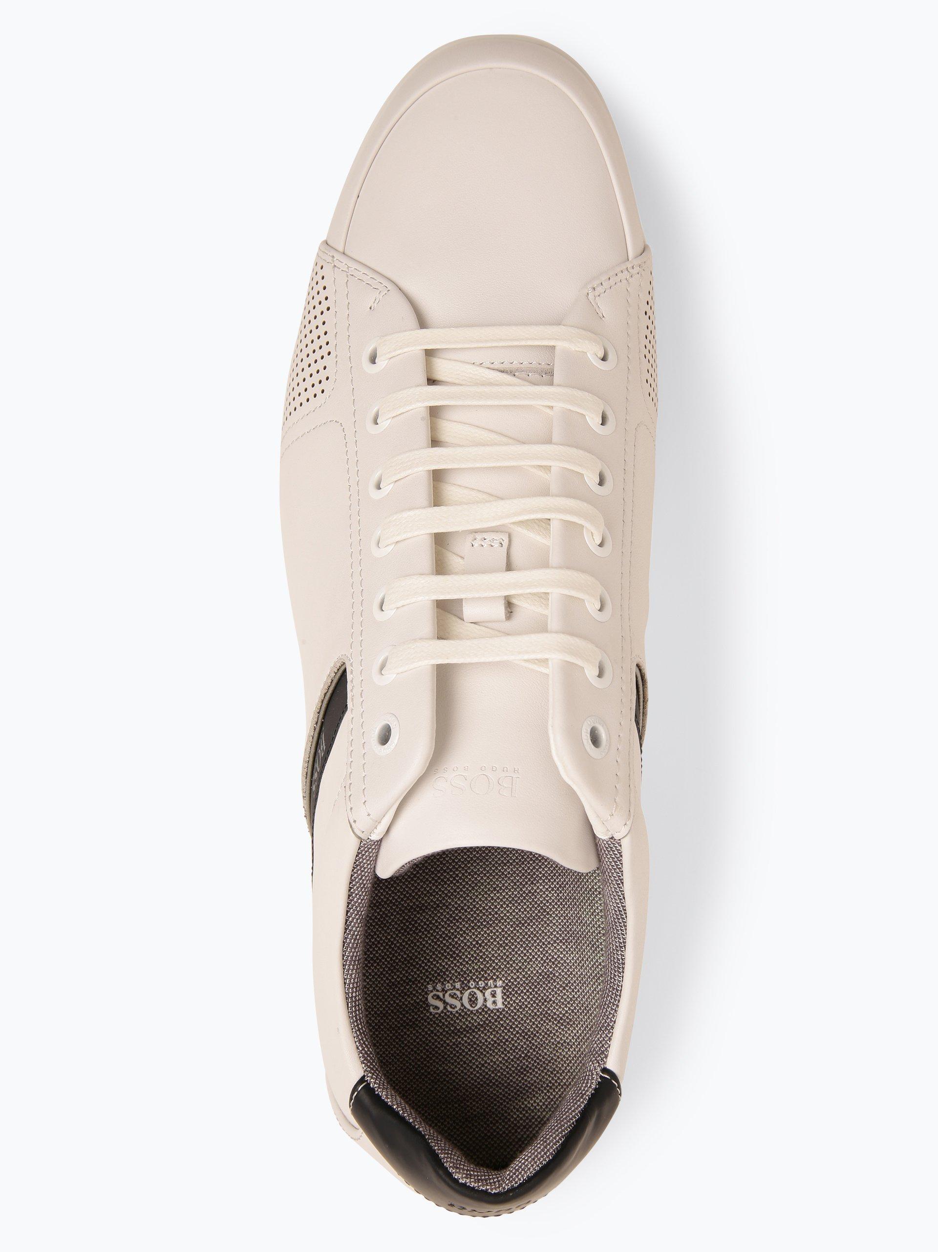 BOSS Athleisure Herren Sneaker aus Leder - Saturn_Lowp_lux4