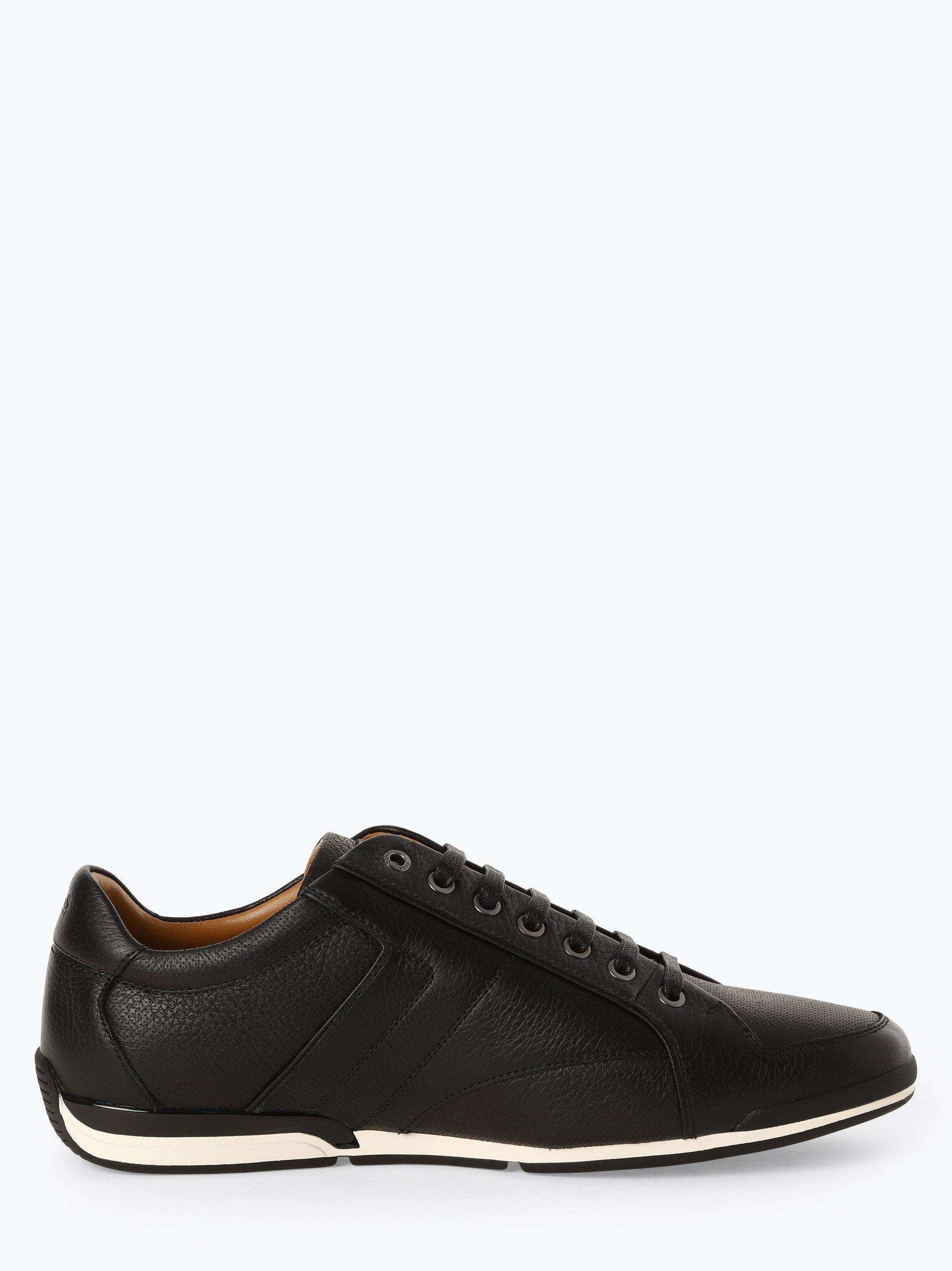 BOSS Athleisure Herren Sneaker aus Leder - Saturn_lowp_tbpf1