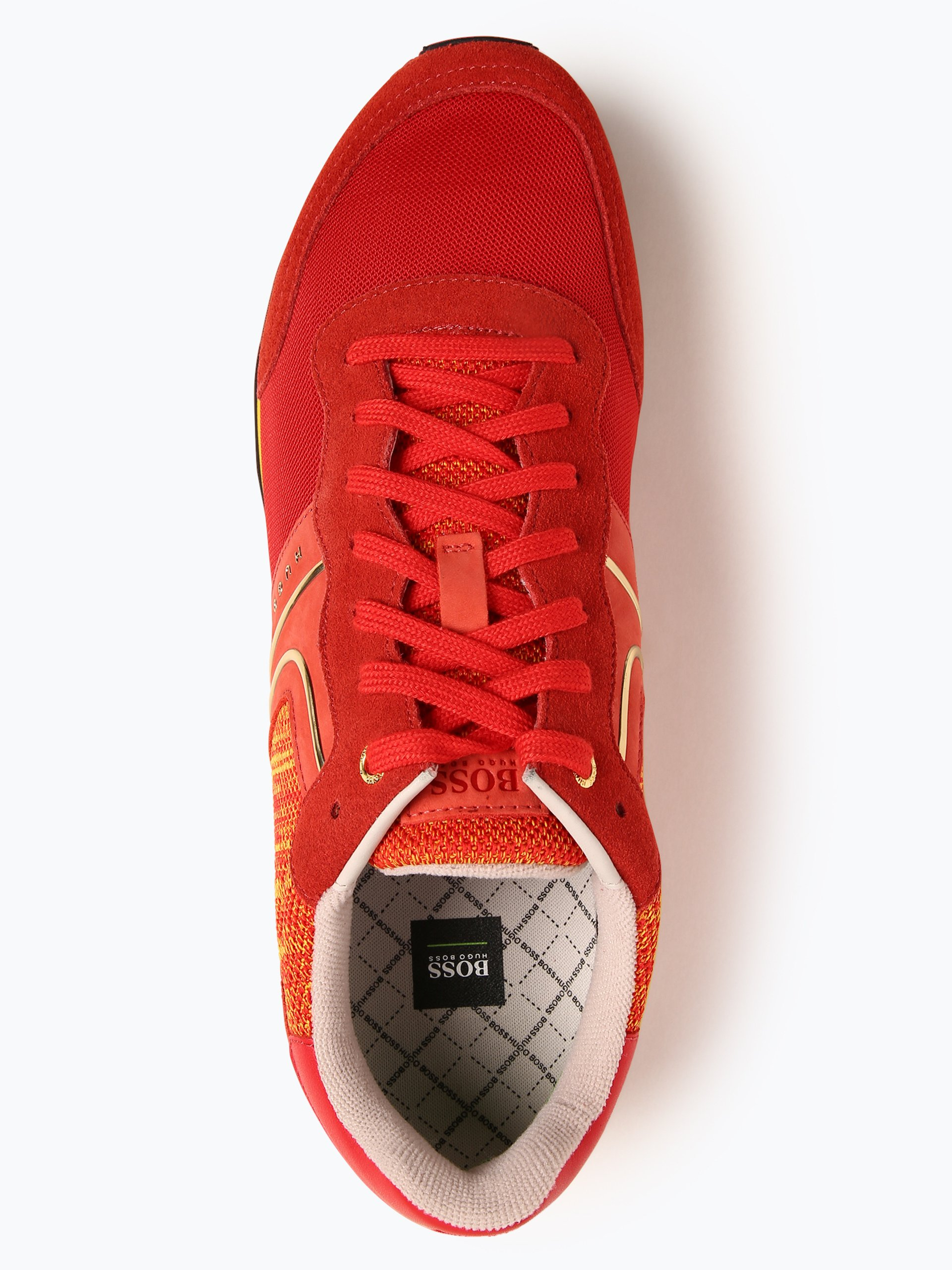 BOSS Athleisure Herren Sneaker mit Leder-Anteil - Parkour_Runn_flag