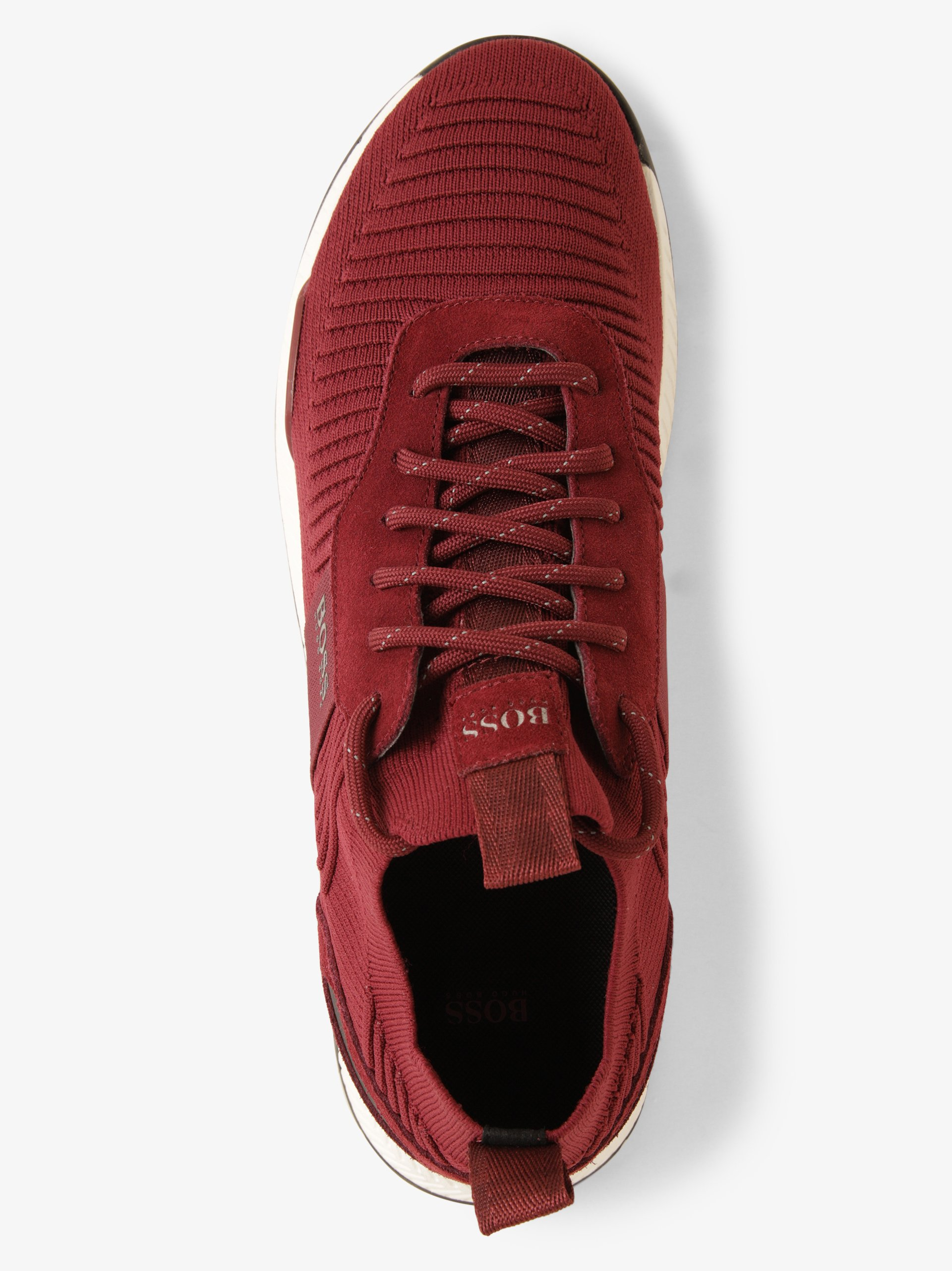 BOSS Athleisure Herren Sneaker mit Leder-Anteil - Titanium_Runn_knst