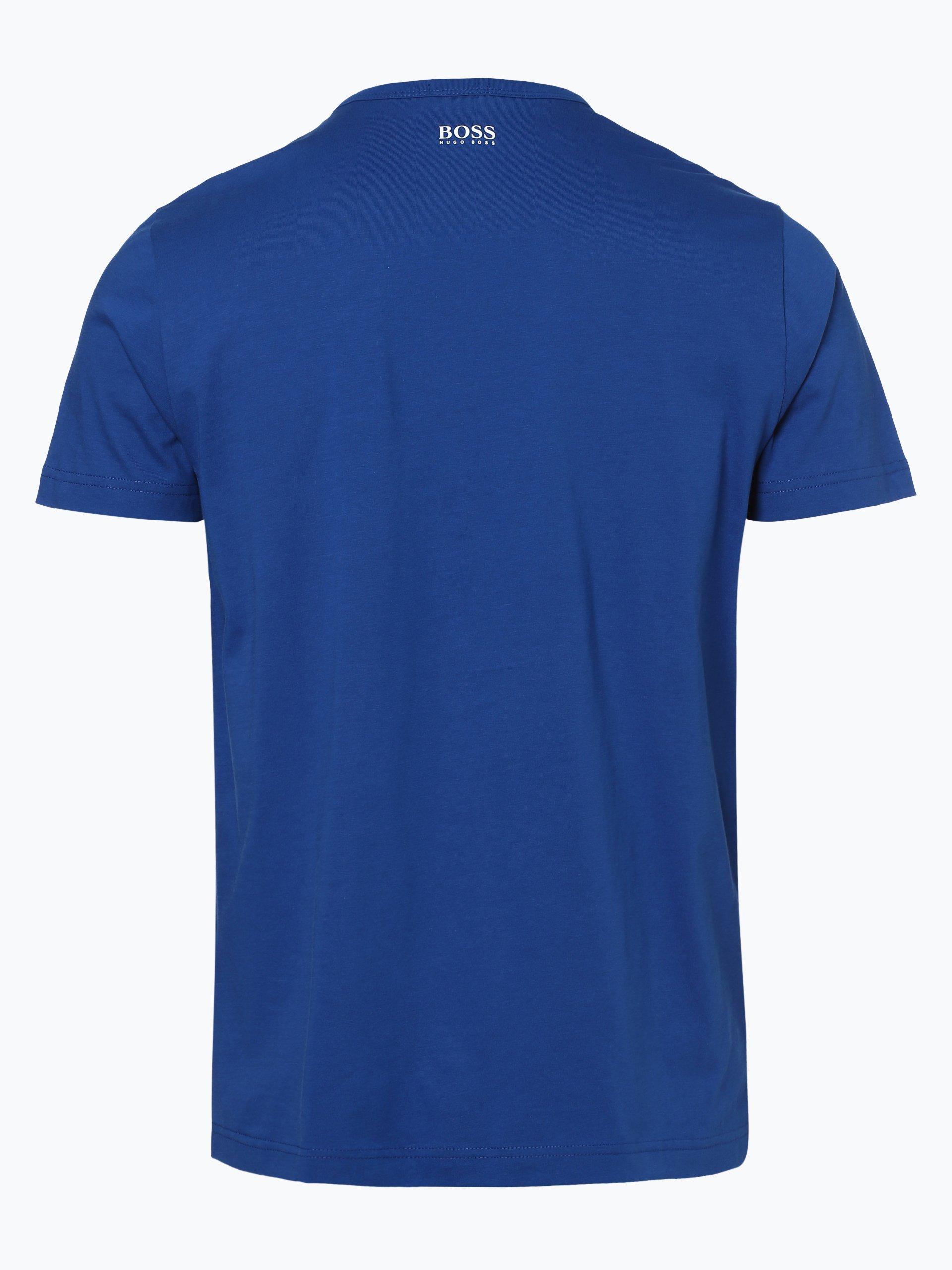 boss athleisure herren t shirt tee 1 hellblau blau uni. Black Bedroom Furniture Sets. Home Design Ideas