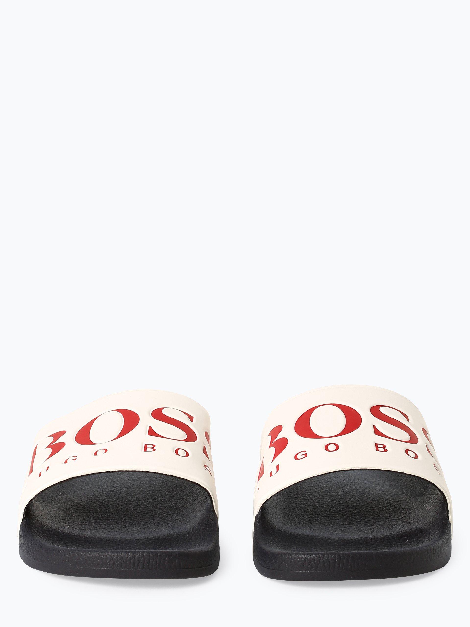 BOSS Athleisure Męskie pantofle kąpielowe – Solar_Slid_logo