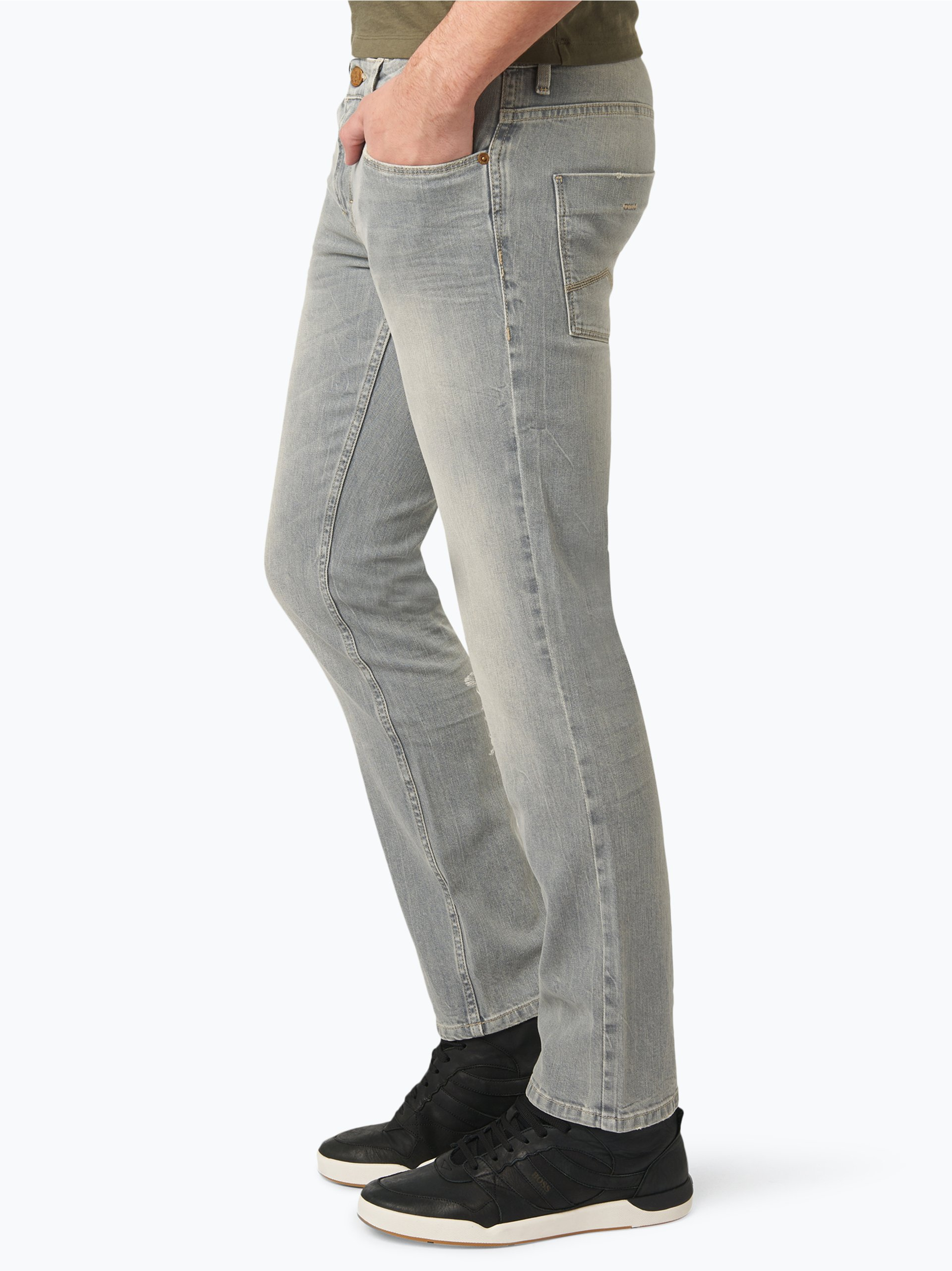 boss casual herren jeans orange 63 grau uni online kaufen vangraaf com. Black Bedroom Furniture Sets. Home Design Ideas