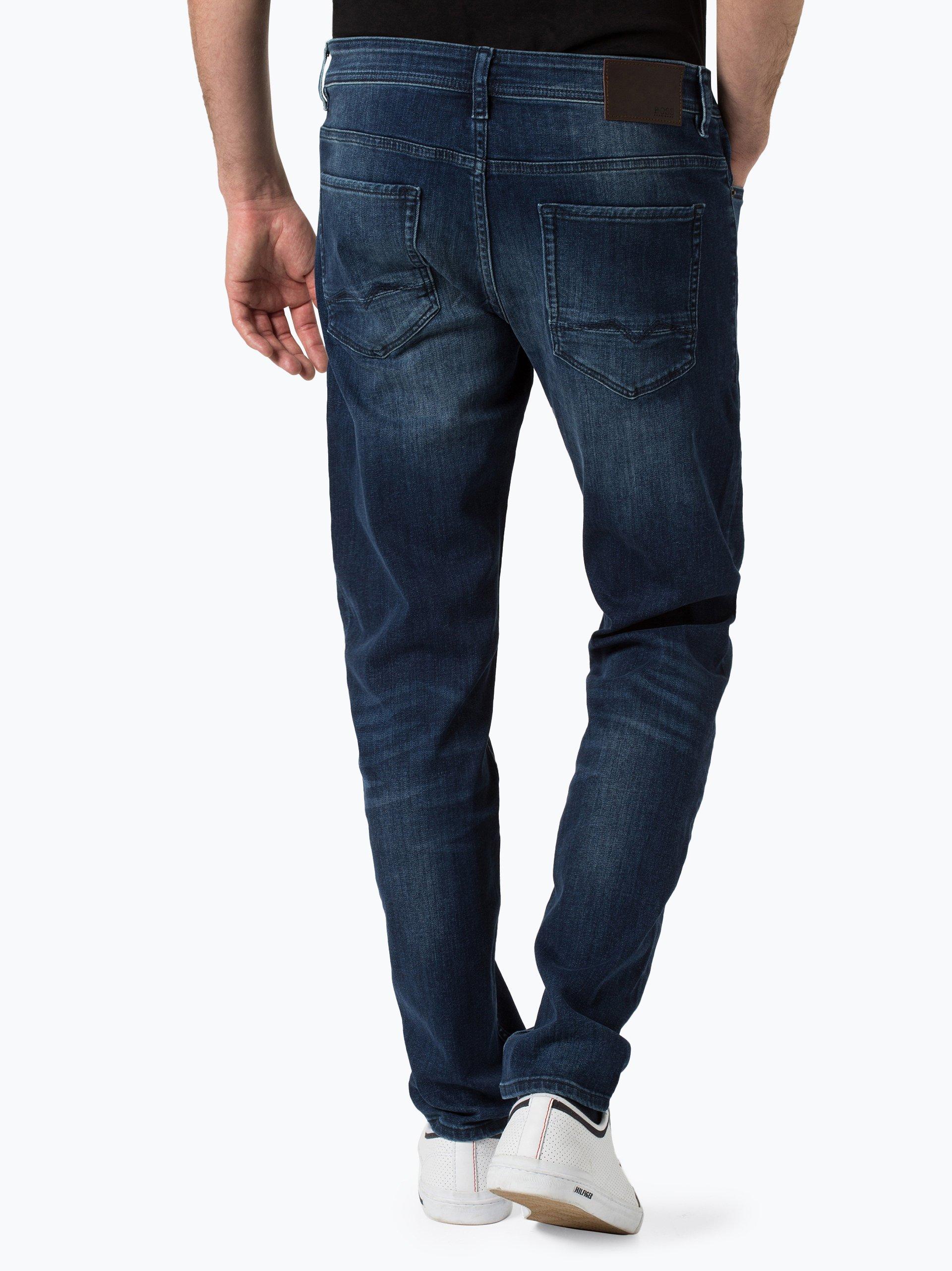 boss casual herren jeans orange90 marine blau uni online kaufen vangraaf com. Black Bedroom Furniture Sets. Home Design Ideas