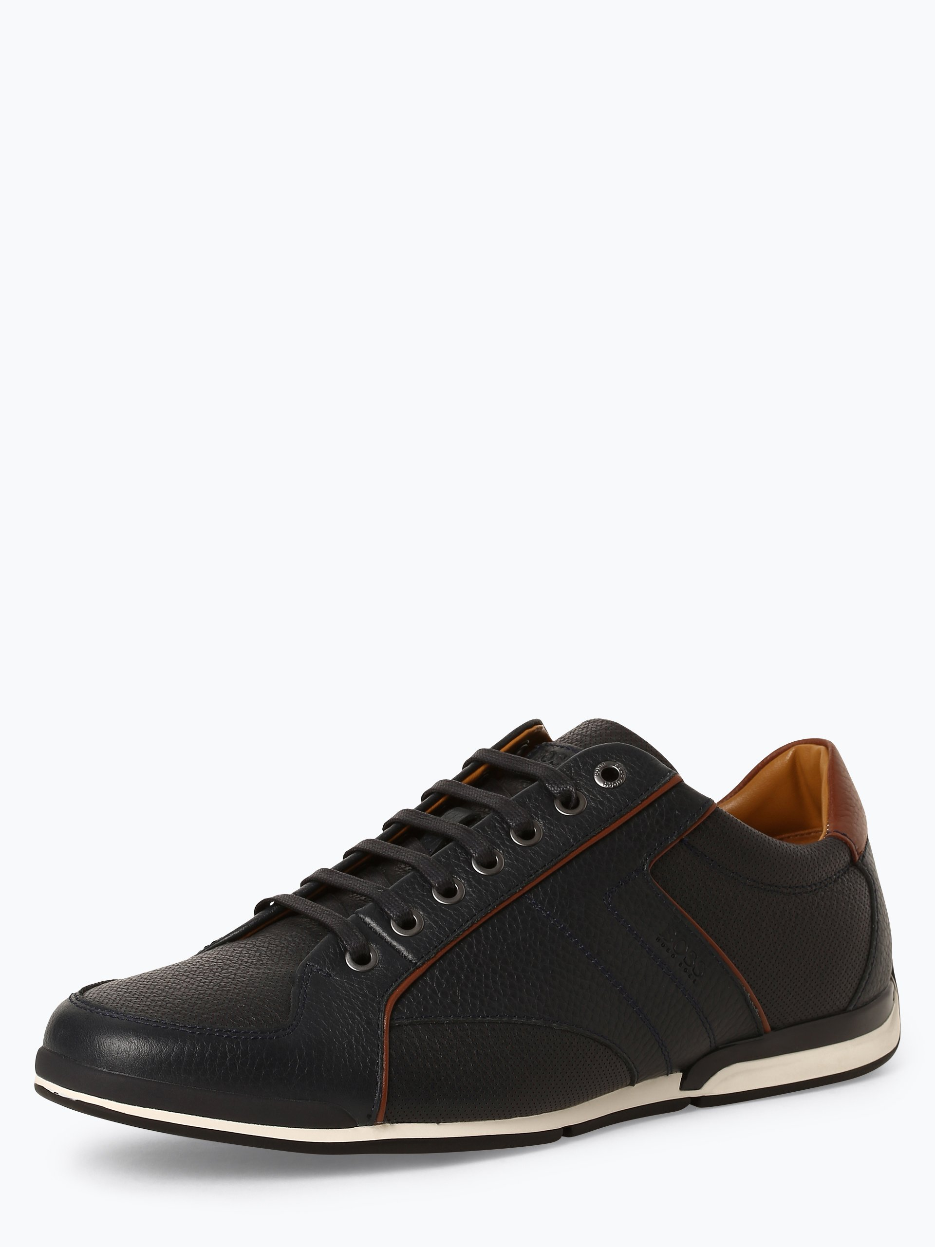 BOSS Casual Herren Sneaker aus Leder - Saturn_lowp_tbpf