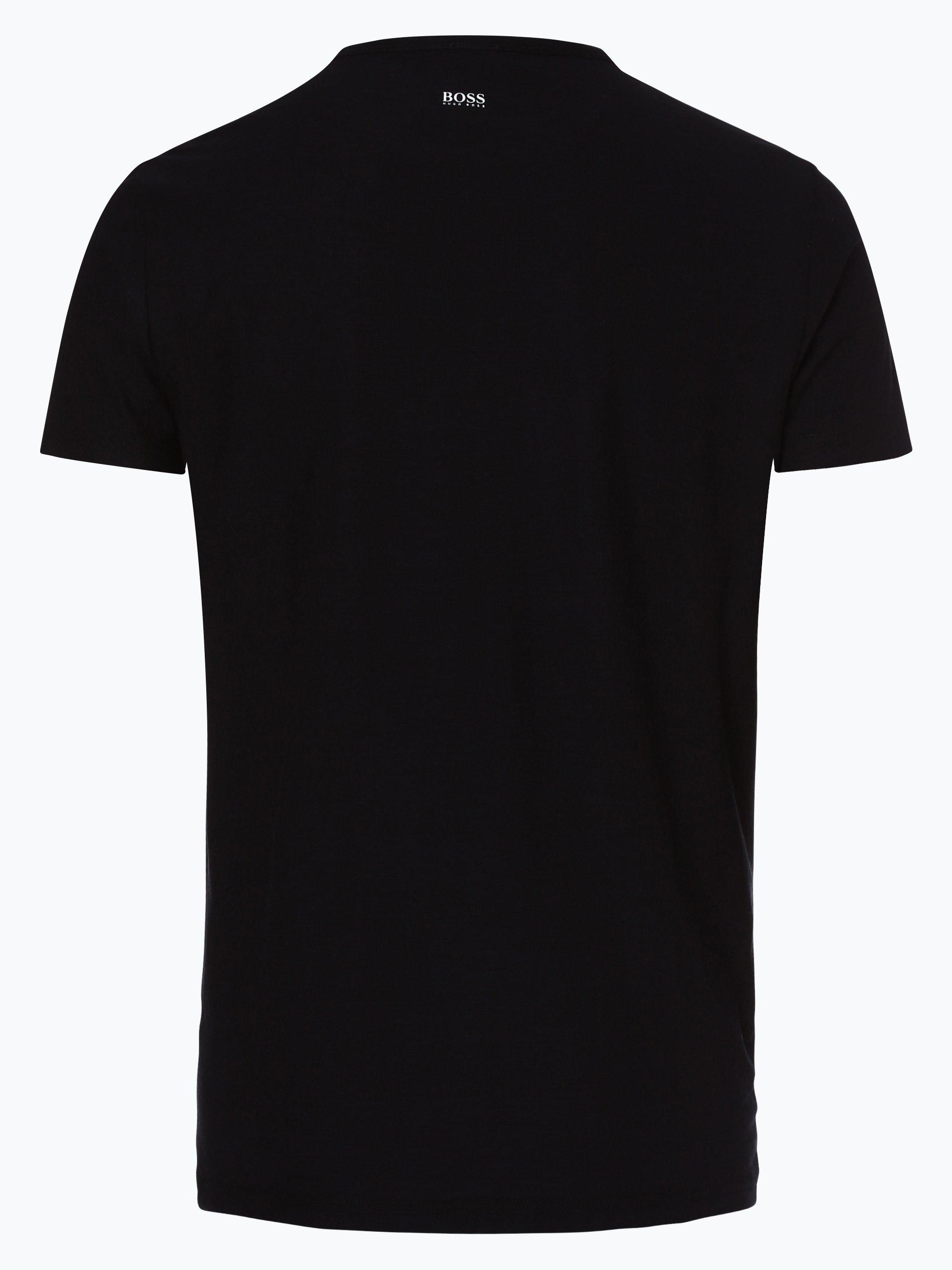 boss casual herren t shirt tarit 1 schwarz gemustert. Black Bedroom Furniture Sets. Home Design Ideas
