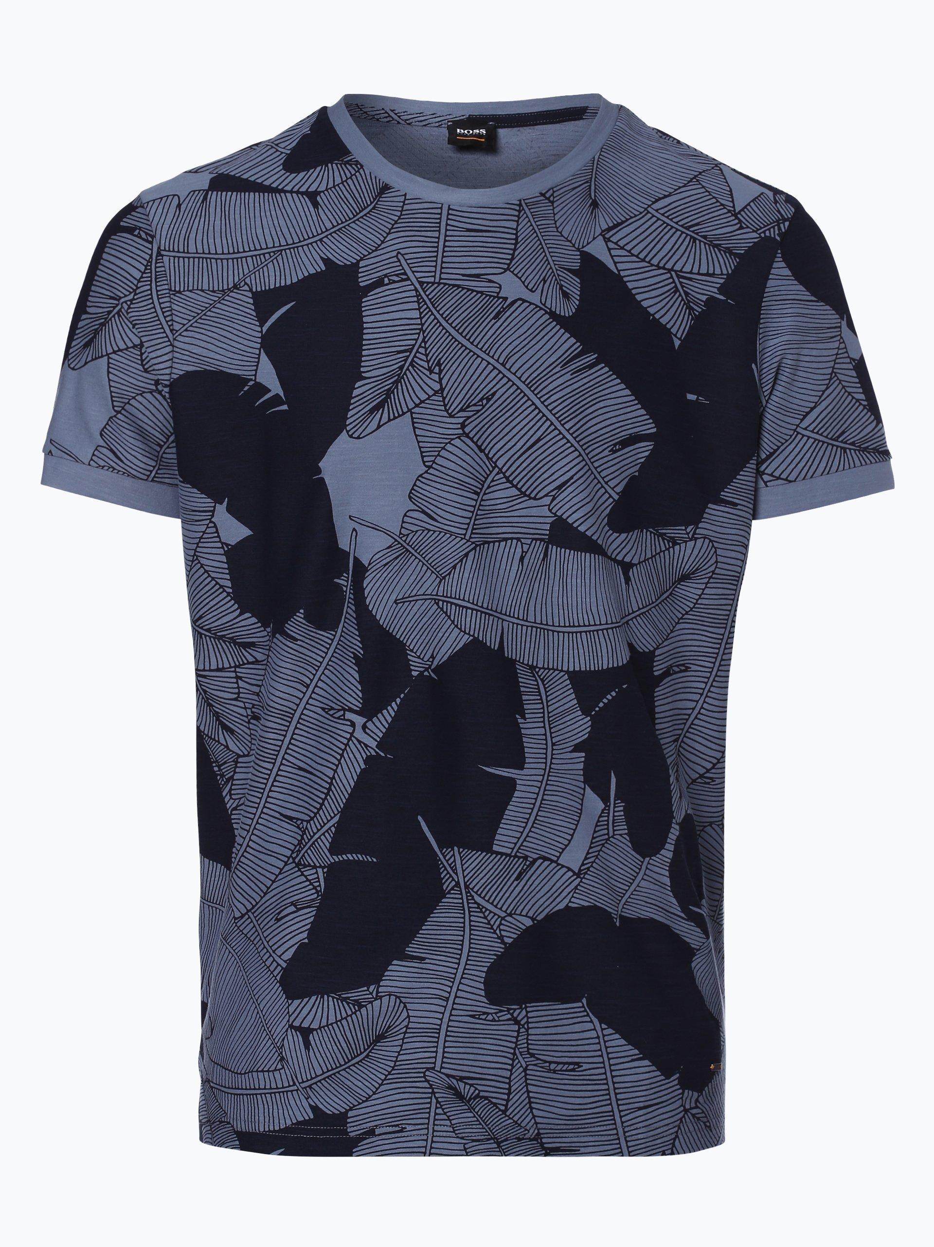 boss casual herren t shirt tarit 2 indigo gemustert. Black Bedroom Furniture Sets. Home Design Ideas