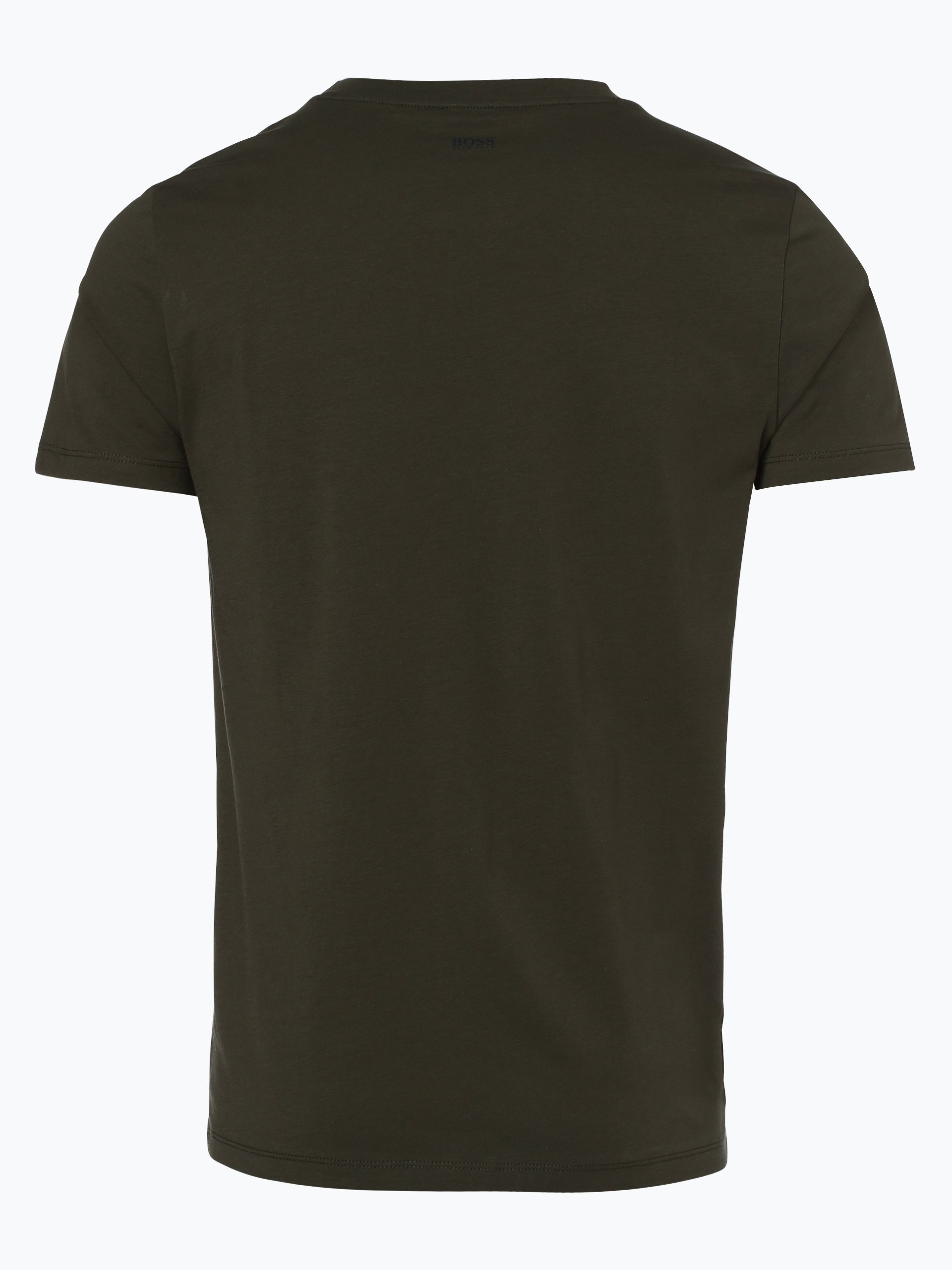 boss casual herren t shirt tauno 1 oliv gemustert online. Black Bedroom Furniture Sets. Home Design Ideas