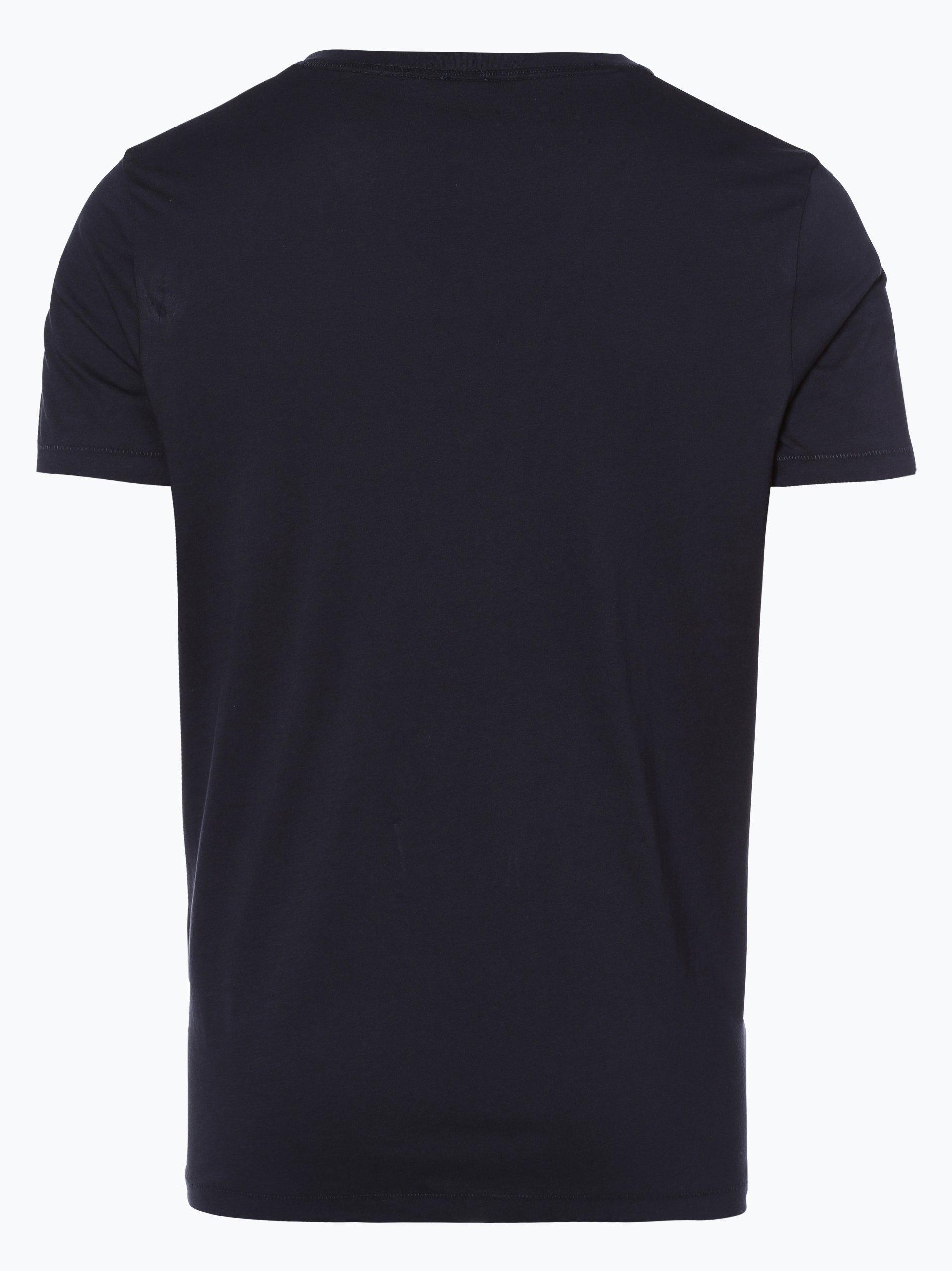 boss casual herren t shirt tway marine uni online kaufen. Black Bedroom Furniture Sets. Home Design Ideas