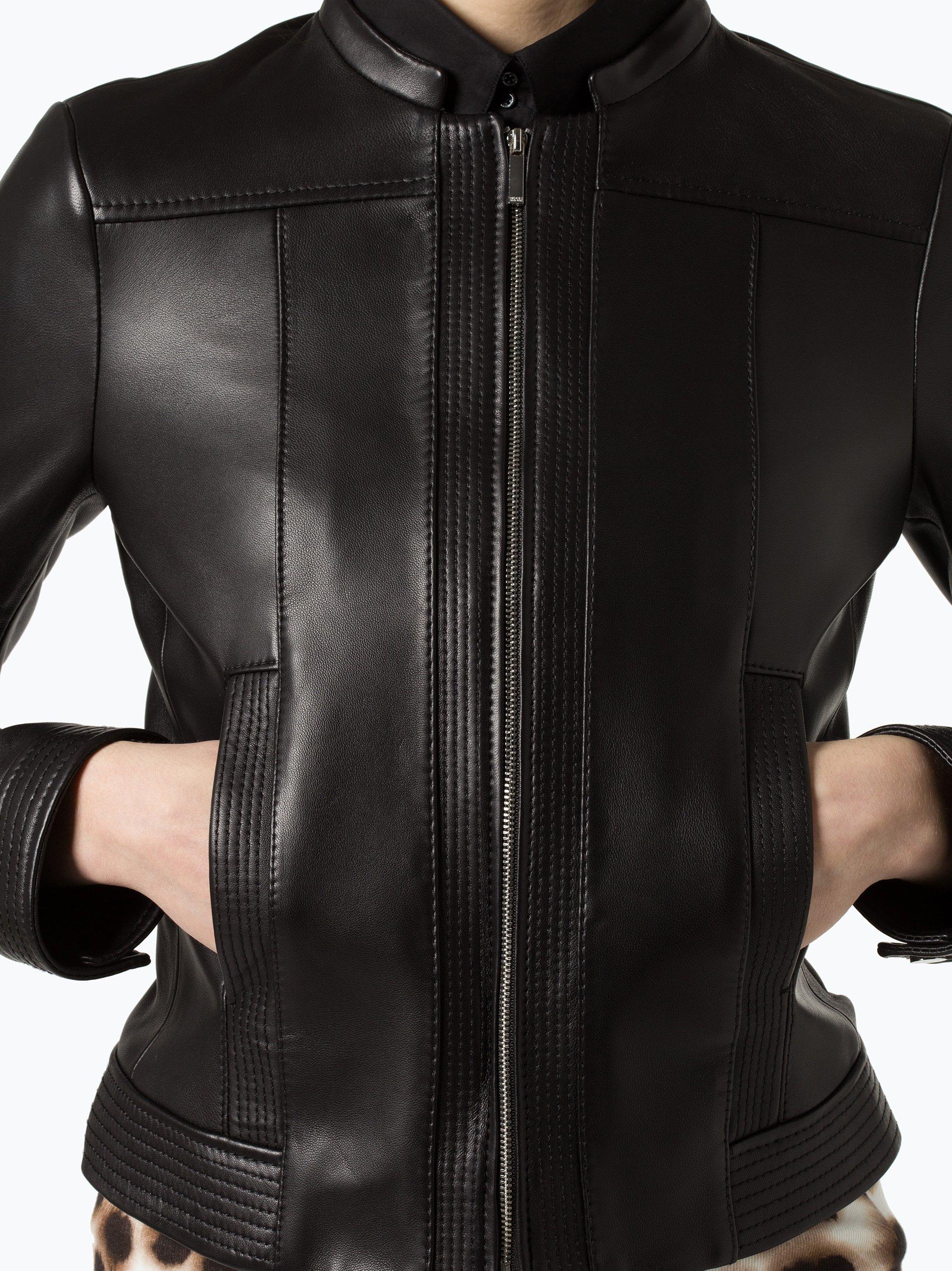 Damen Lederjacke - Safile schwarz BOSS Spielraum Shop-Angebot lkqAs3