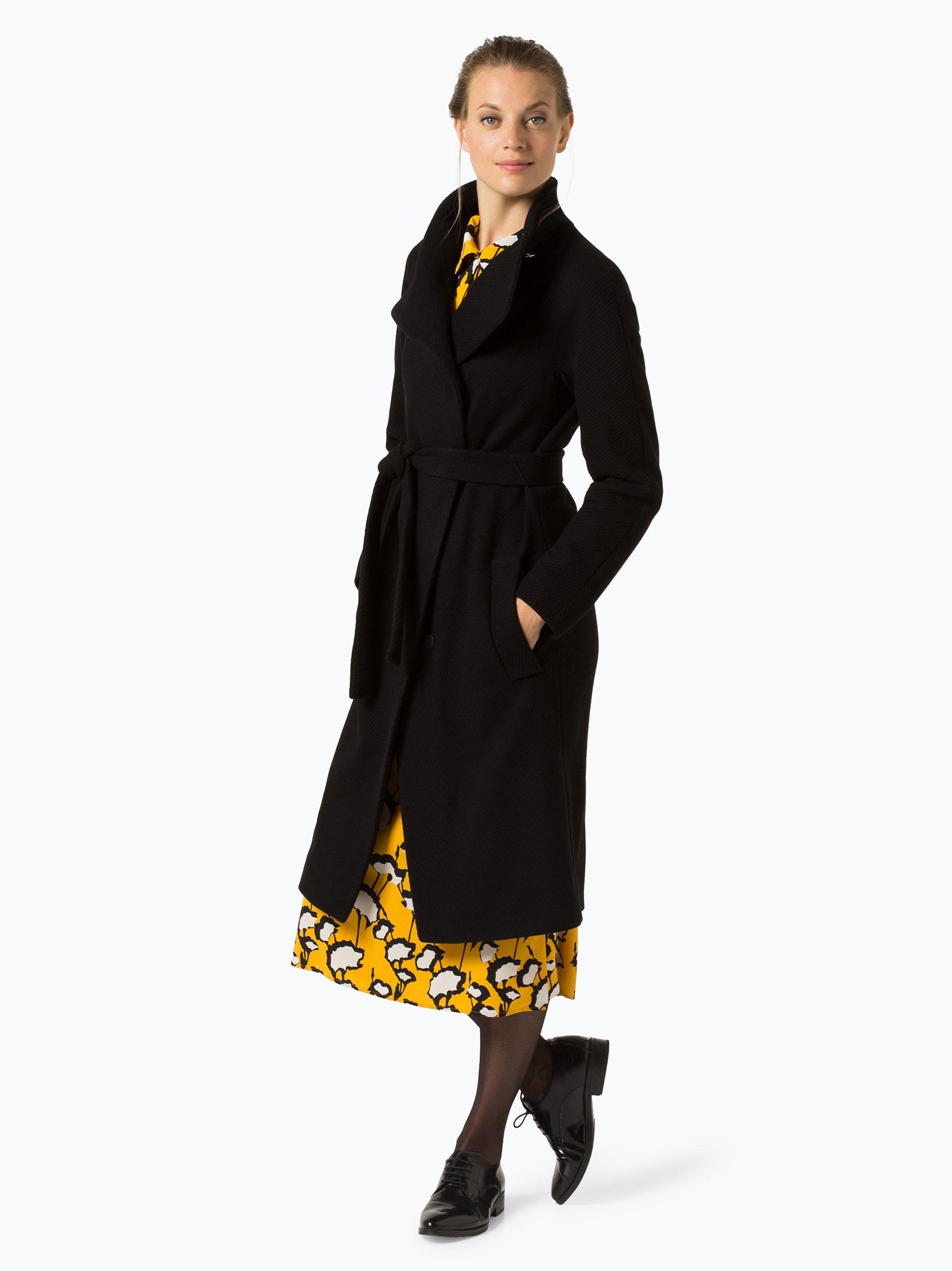 boss damen mantel mit cashmere anteil cedani schwarz uni. Black Bedroom Furniture Sets. Home Design Ideas