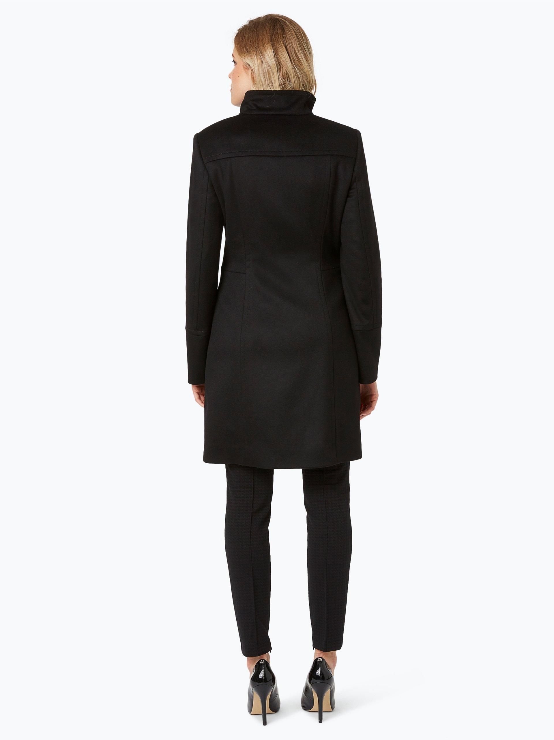 boss damen mantel mit cashmere anteil cosamyna schwarz uni online kaufen vangraaf com. Black Bedroom Furniture Sets. Home Design Ideas