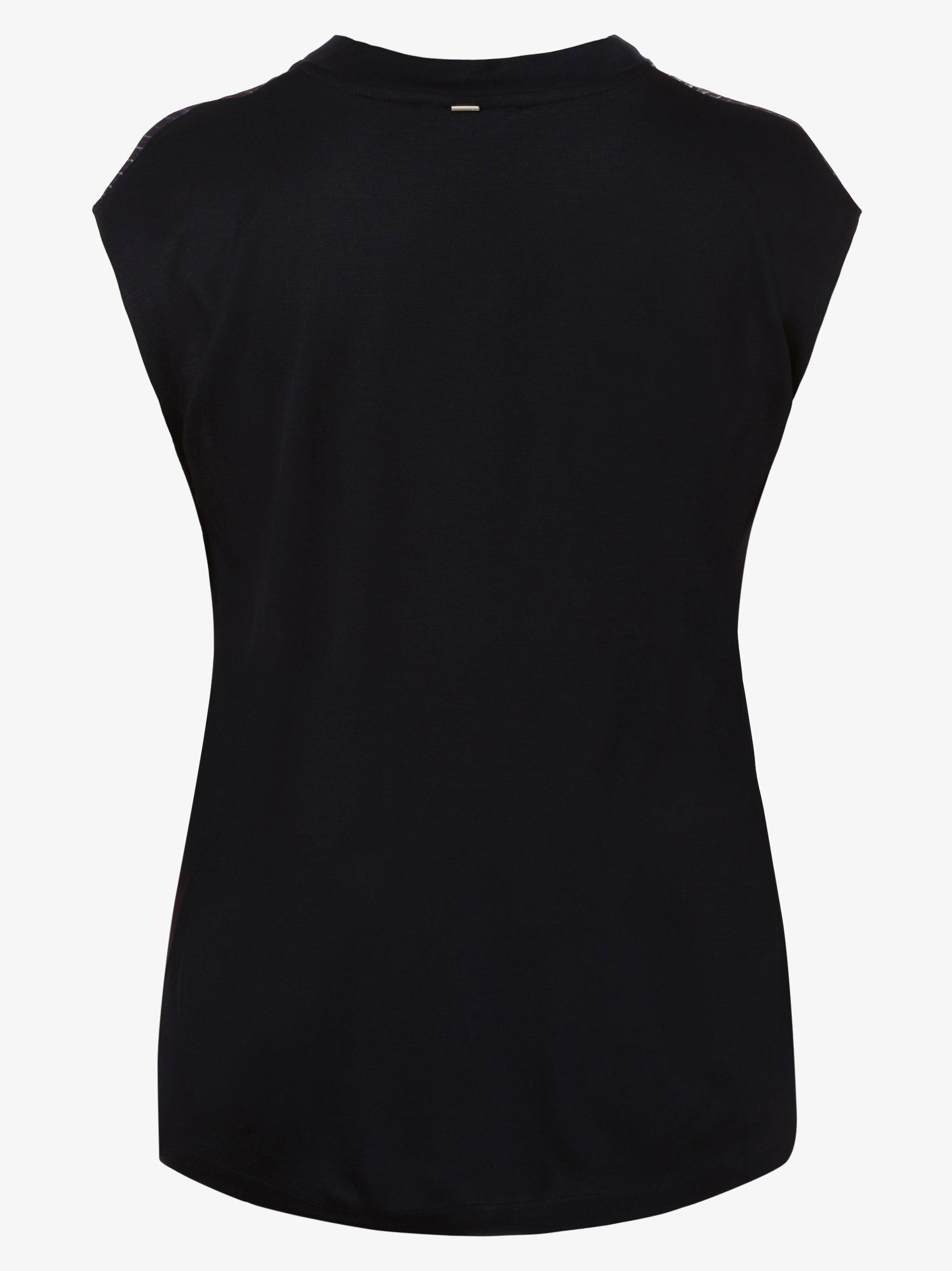 BOSS Damska bluzka bez rękawów z domieszką jedwabiu – Elaida