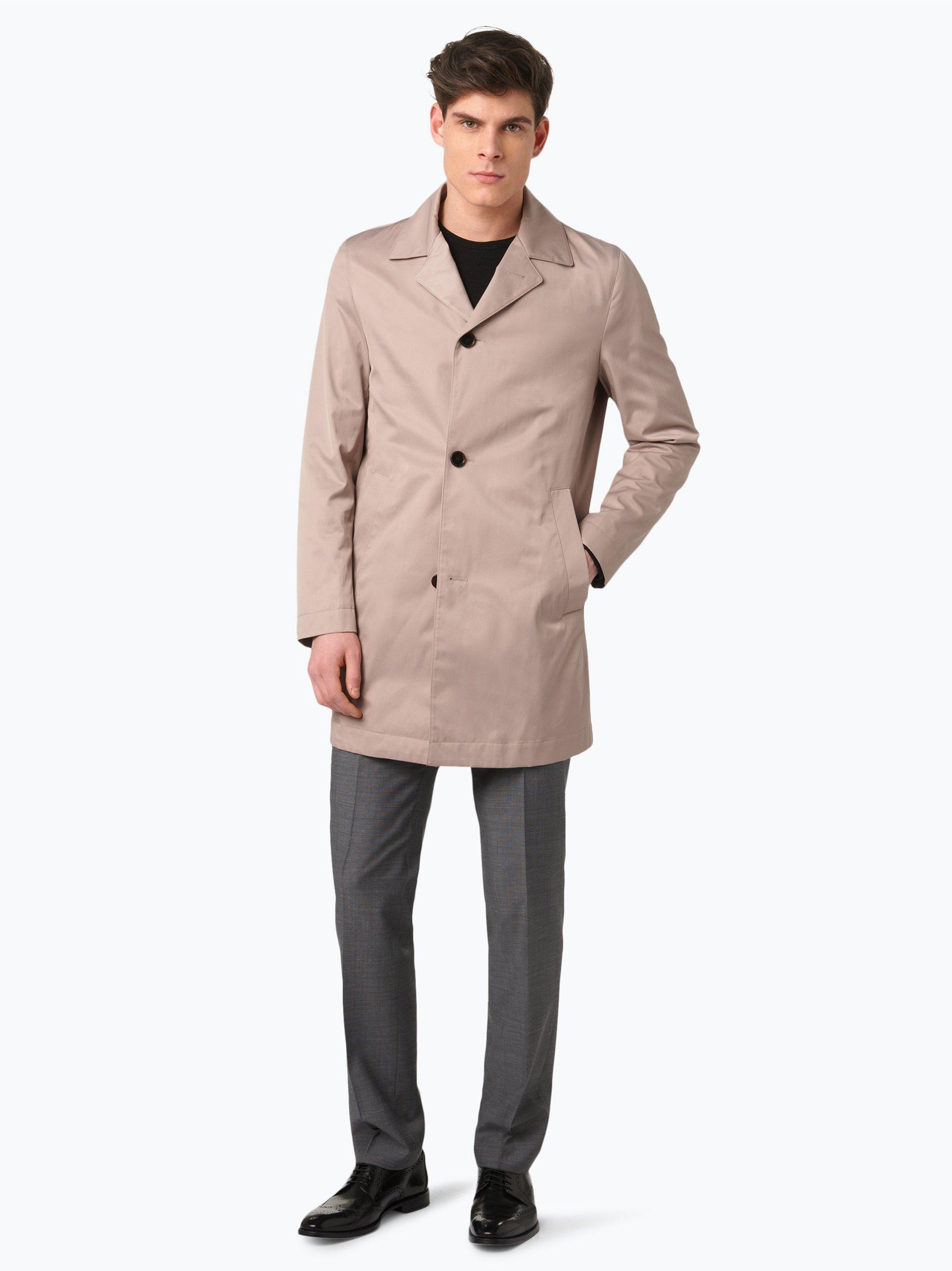 boss herren mantel dais12 beige uni online kaufen peek. Black Bedroom Furniture Sets. Home Design Ideas