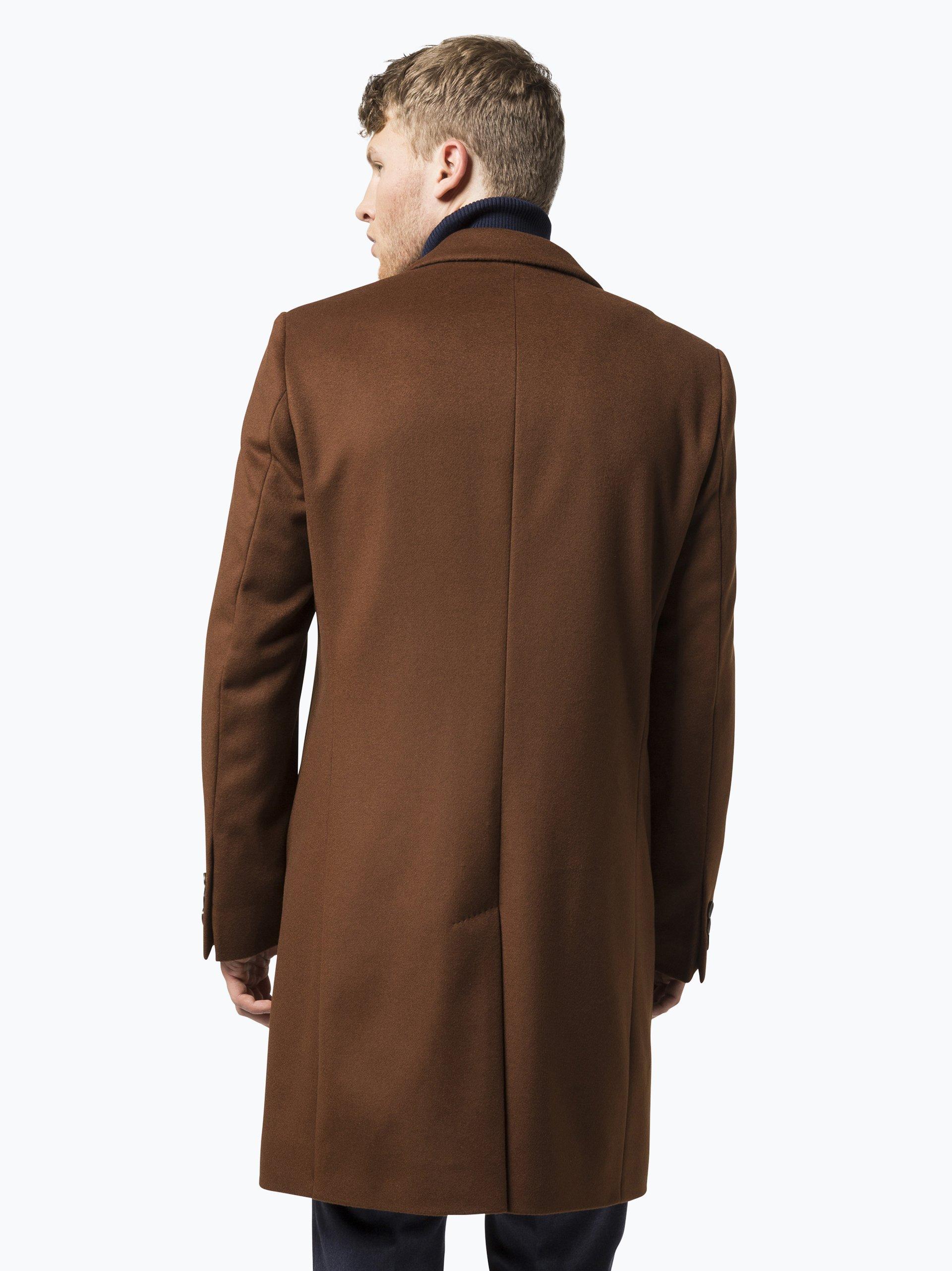 boss herren mantel mit cashmere anteil nye1 orange uni. Black Bedroom Furniture Sets. Home Design Ideas