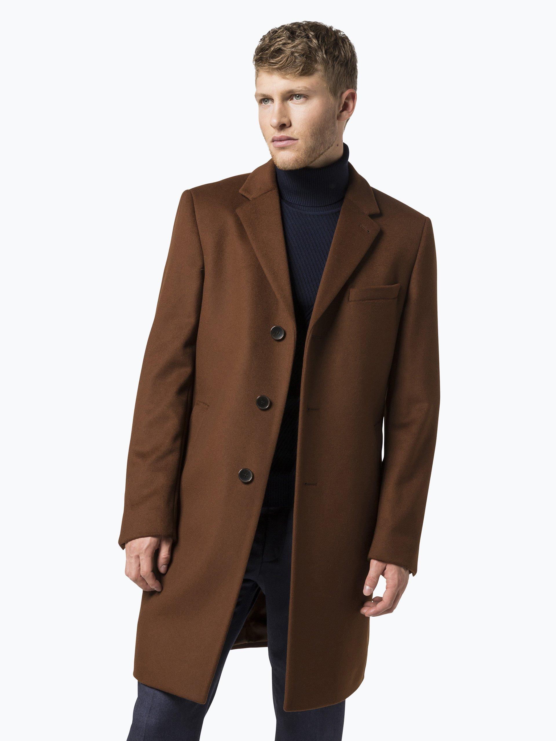 boss herren mantel mit cashmere anteil nye1 orange braun. Black Bedroom Furniture Sets. Home Design Ideas