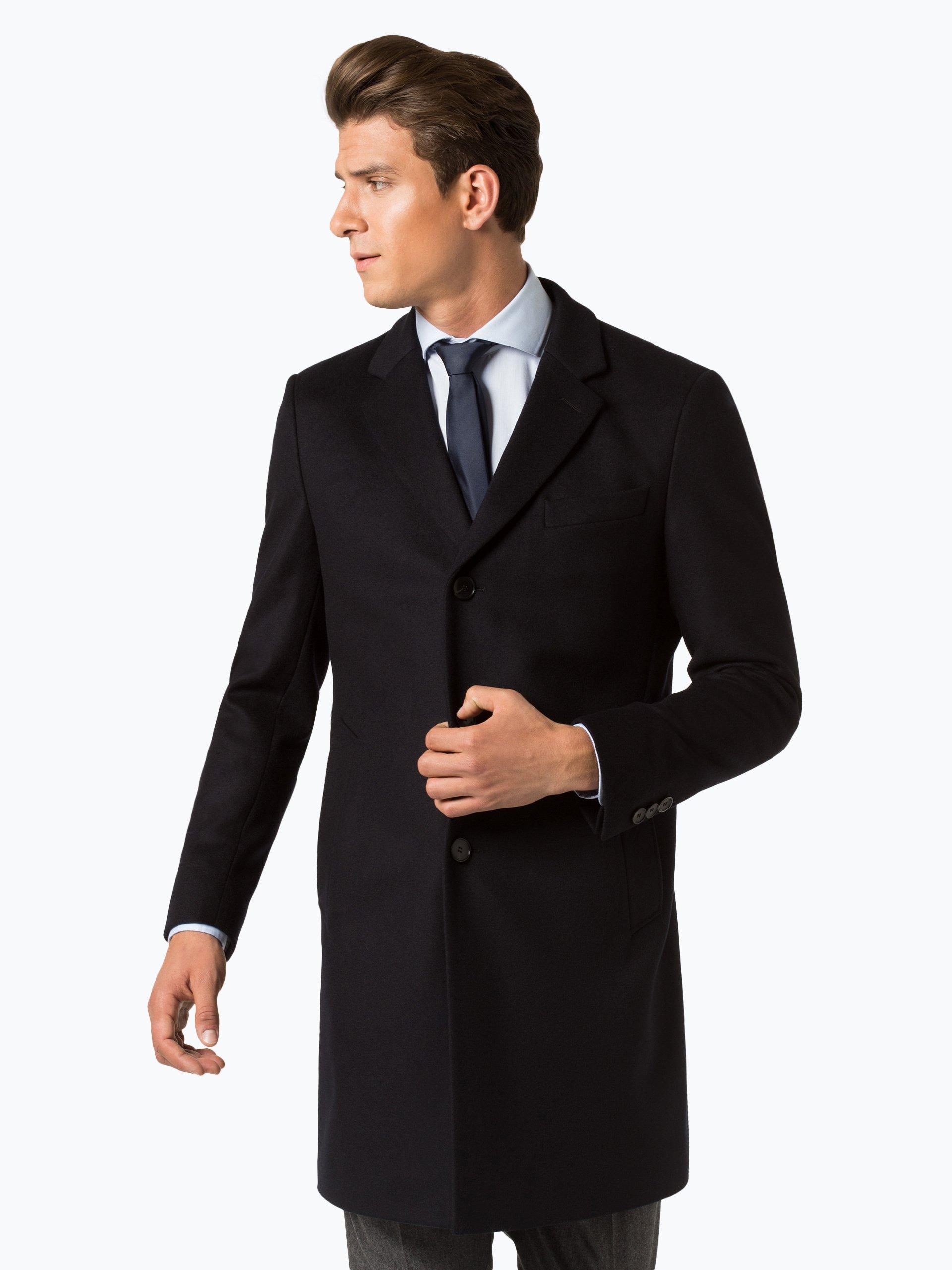 boss herren mantel mit cashmere anteil nye2 marine uni. Black Bedroom Furniture Sets. Home Design Ideas