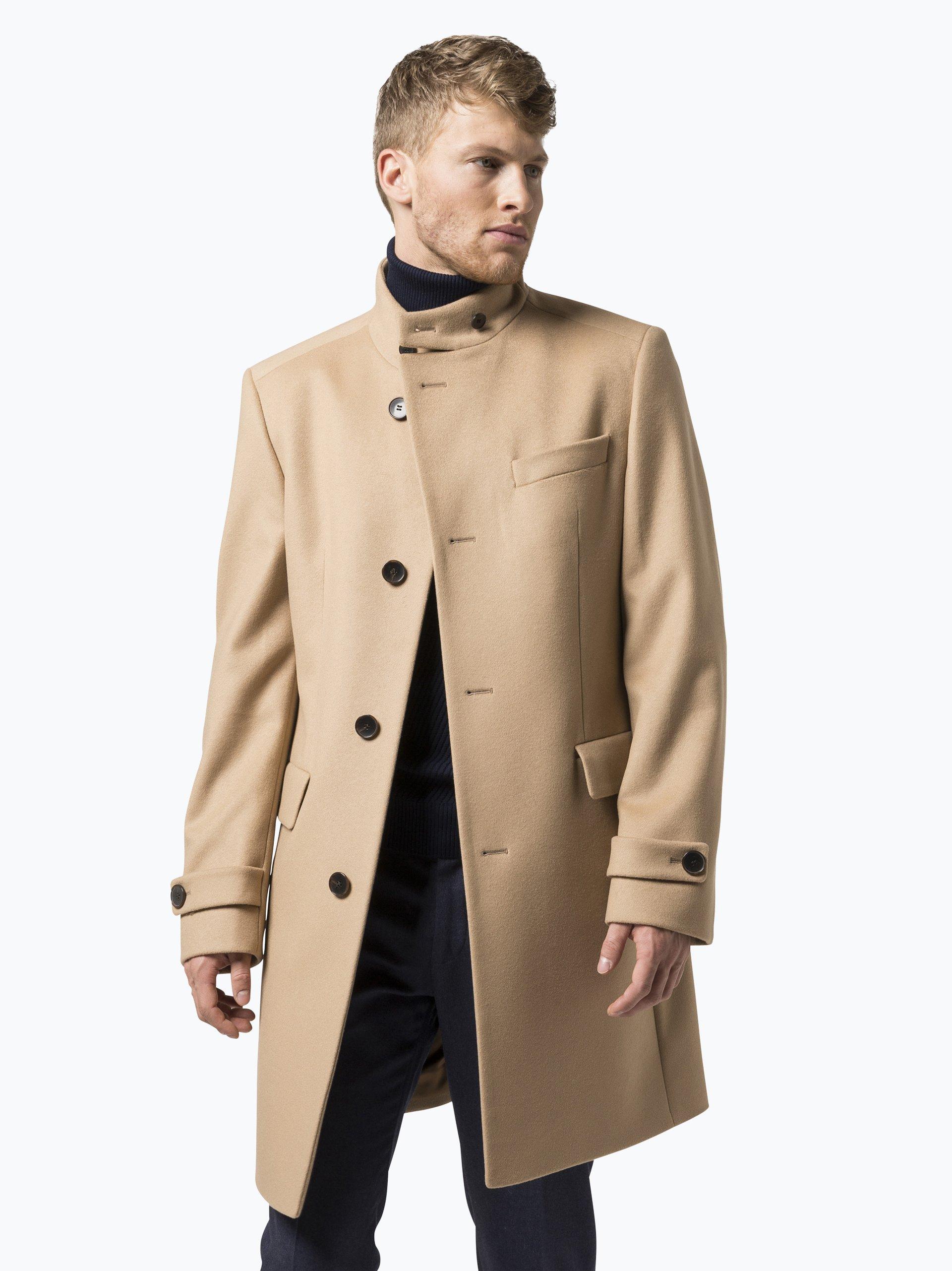 boss herren mantel mit cashmere anteil sintrax2 beige. Black Bedroom Furniture Sets. Home Design Ideas