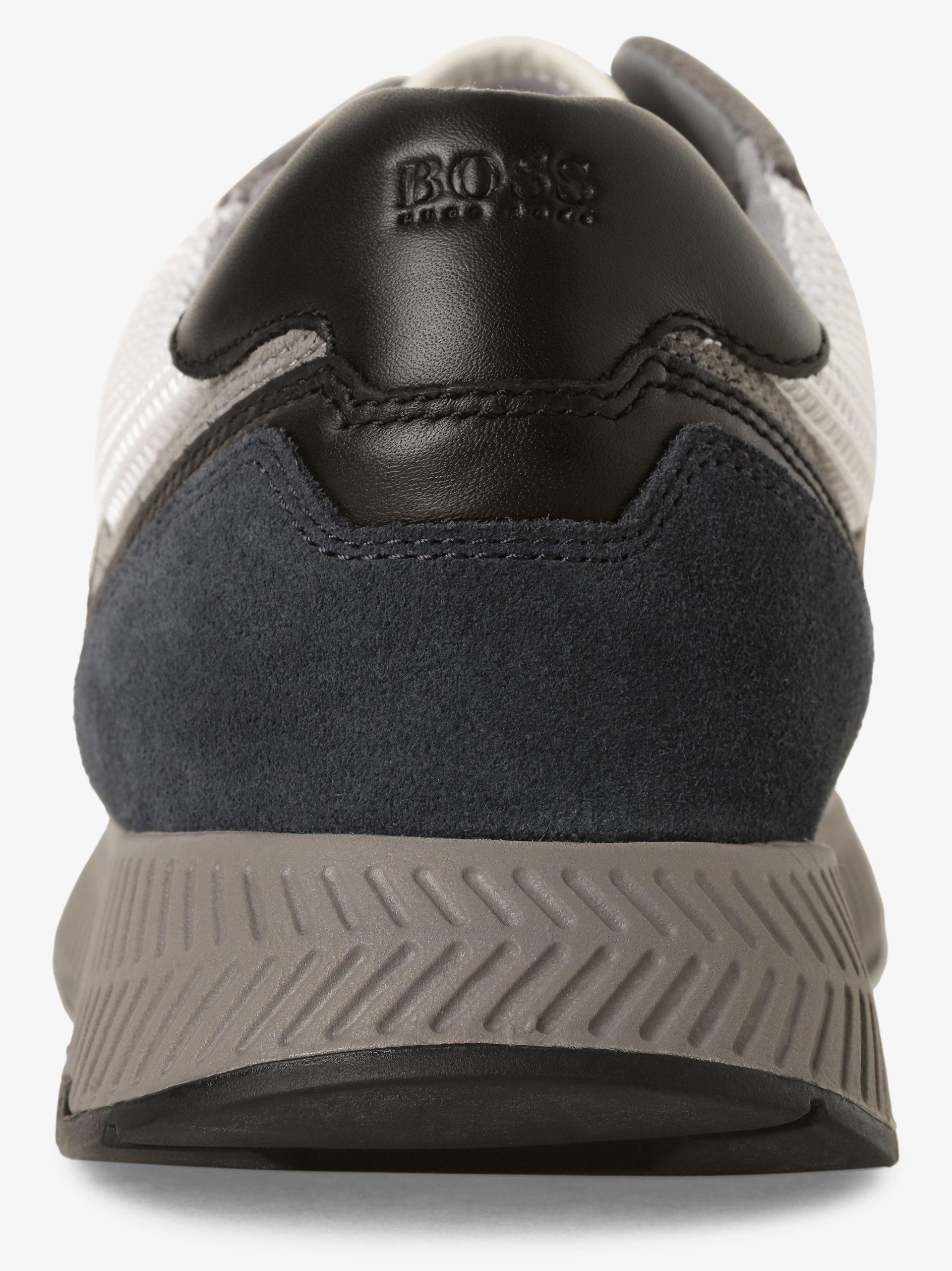 BOSS Herren Sneaker mit Leder-Anteil - Titanium