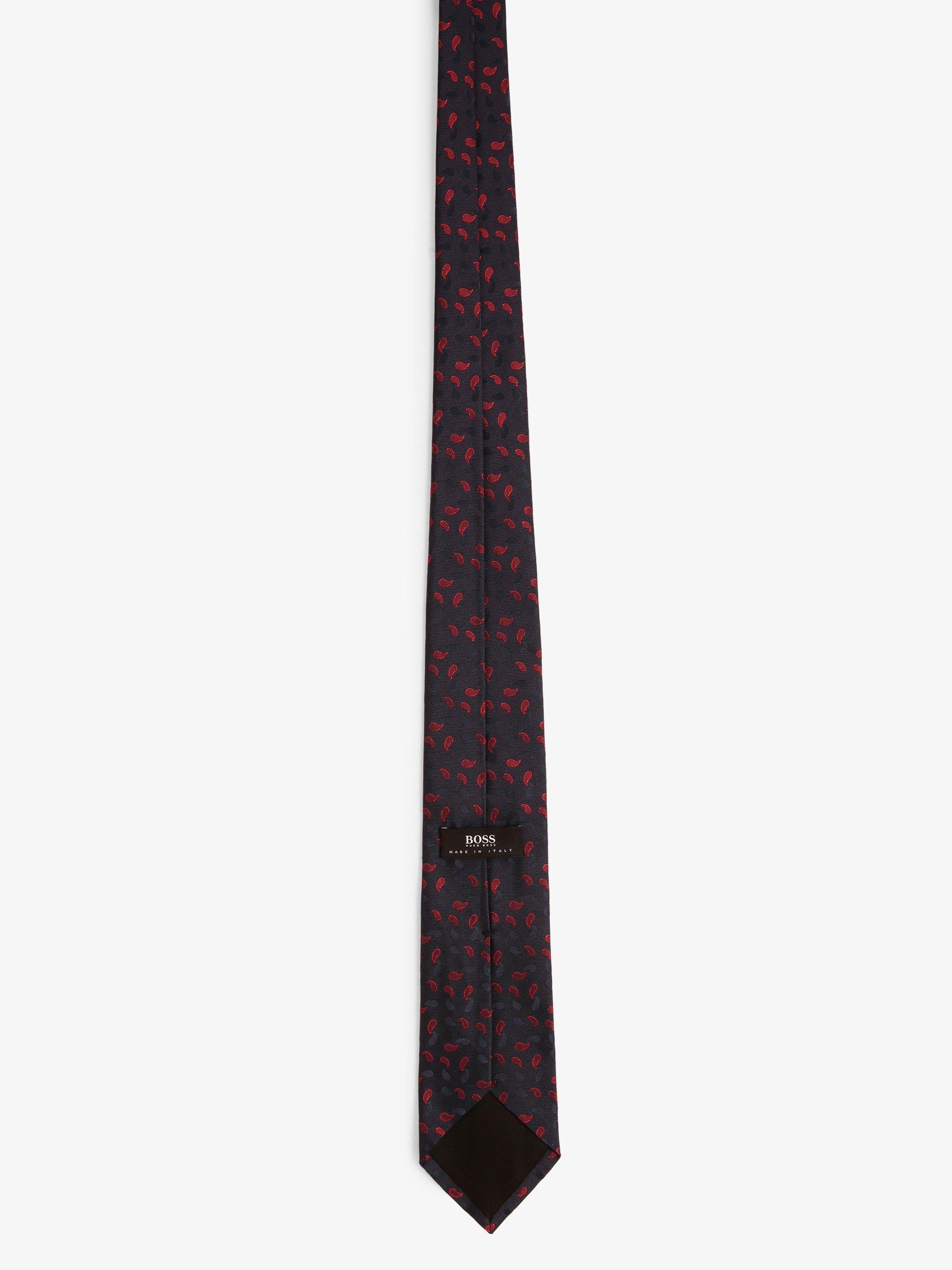 BOSS Krawat męski z dodatkiem jedwabiu