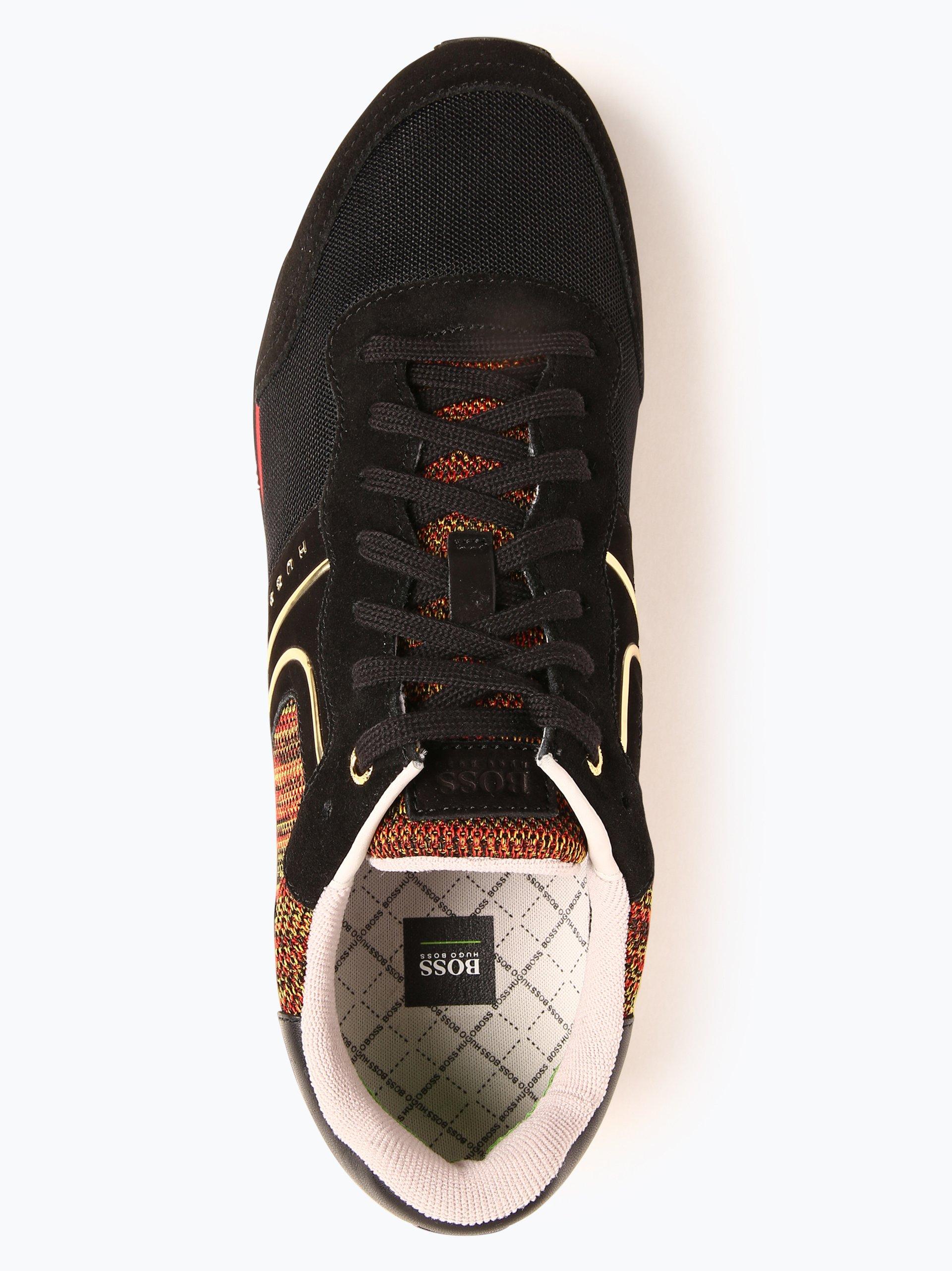 BOSS Menswear Athleisure Tenisówki męskie z dodatkiem skóry – Parkour_Runn_flag