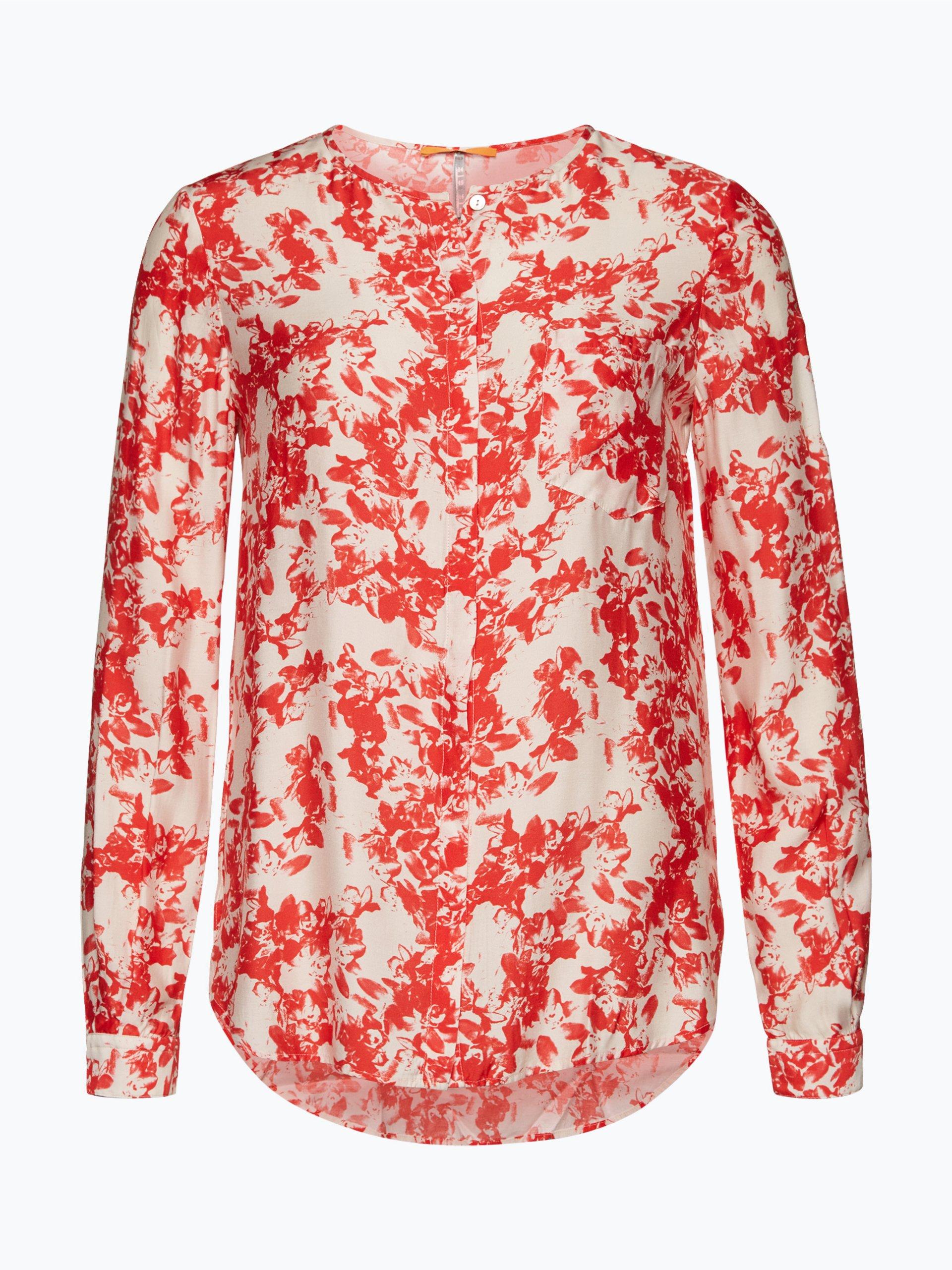 boss orange damen bluse eflo rot gemustert online kaufen peek und cloppenburg de. Black Bedroom Furniture Sets. Home Design Ideas