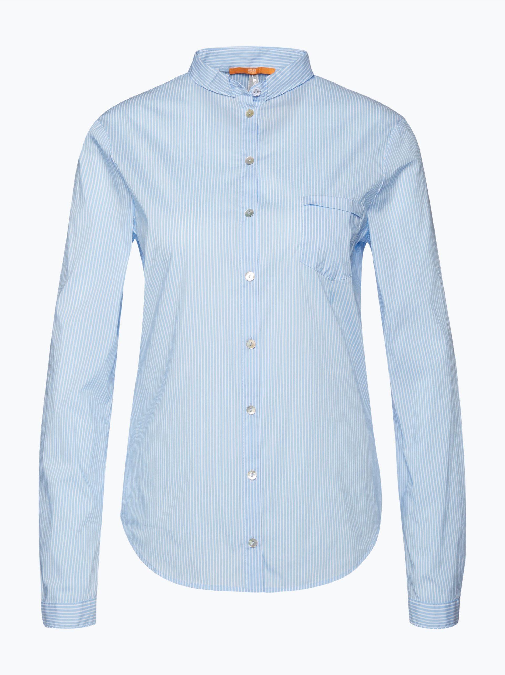 boss orange damen bluse egli hellblau gestreift online kaufen peek und cloppenburg de. Black Bedroom Furniture Sets. Home Design Ideas