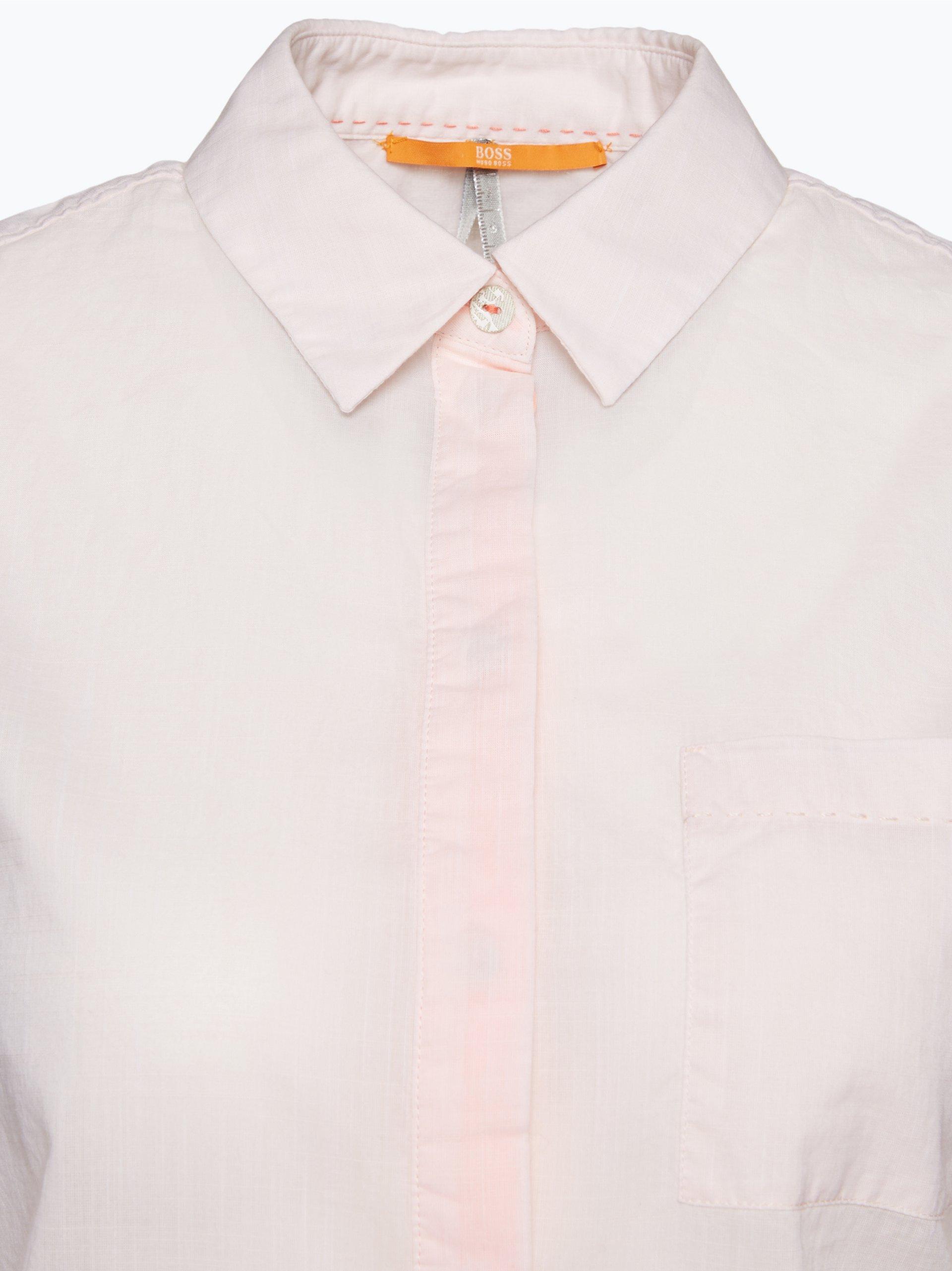 boss orange damen bluse egyp rosa uni online kaufen peek und cloppenburg de. Black Bedroom Furniture Sets. Home Design Ideas