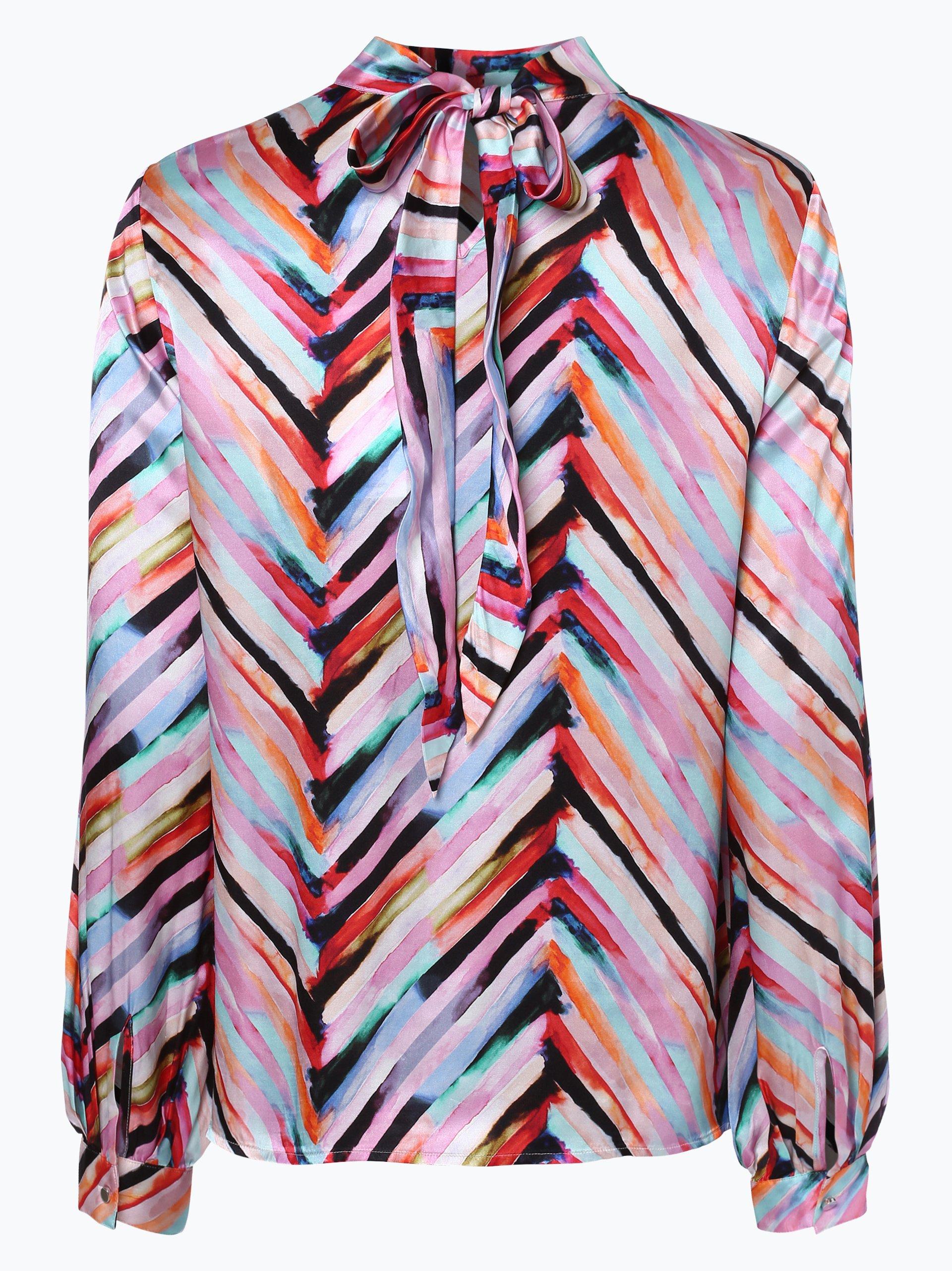 boss orange damen bluse mit seiden anteil cubat mehrfarbig gestreift online kaufen peek und. Black Bedroom Furniture Sets. Home Design Ideas