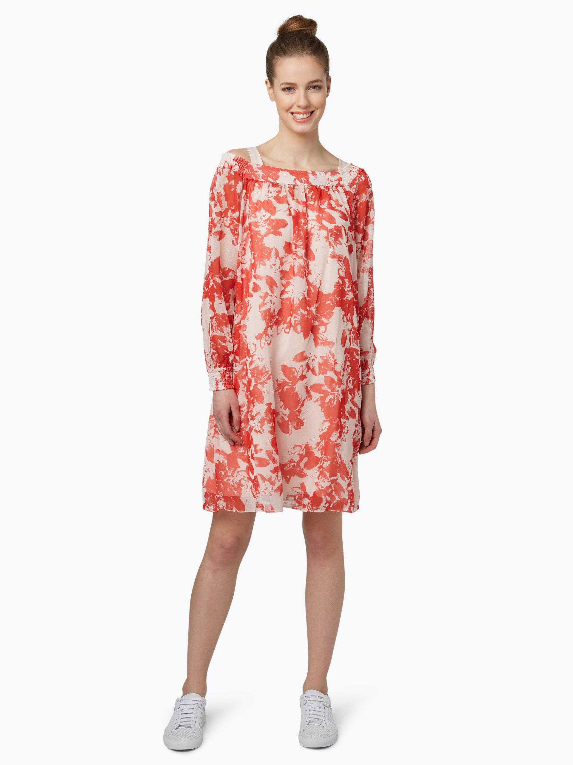 boss orange damen kleid acarmy rot gemustert online kaufen peek und cloppenburg de. Black Bedroom Furniture Sets. Home Design Ideas